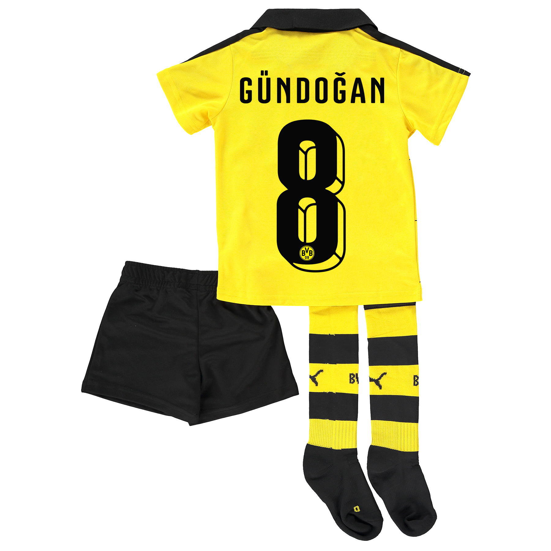 BVB Home Mini Kit 2015/16 Yellow with Gündogan 8 printing