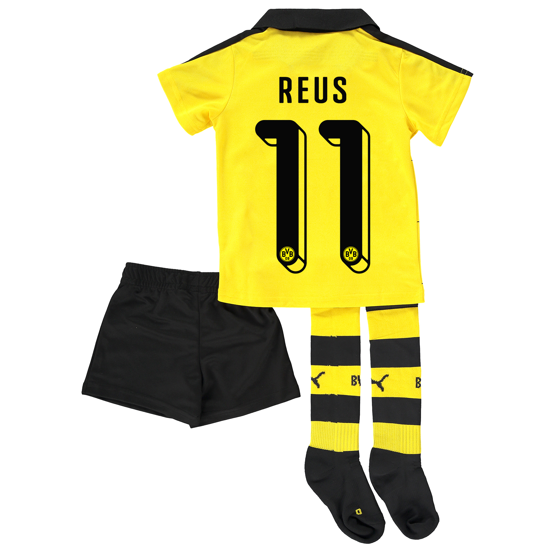 BVB Home Mini Kit 2015/16 Yellow with Reus 11 printing