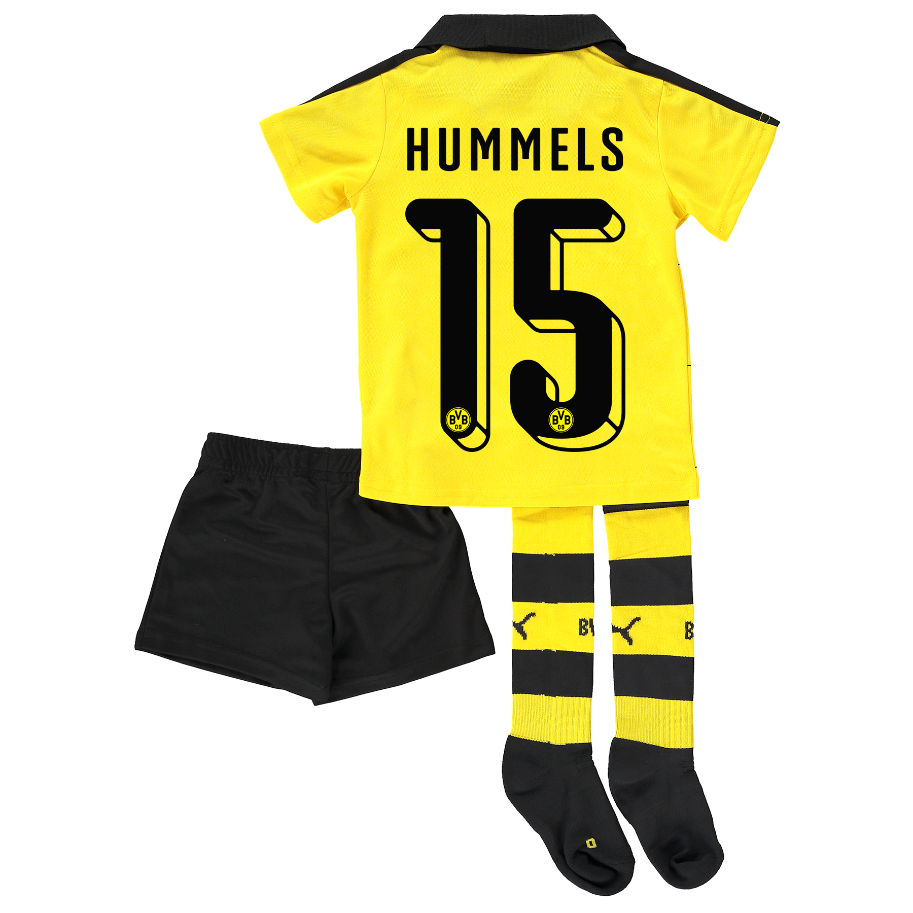 BVB Home Mini Kit 2015/16 Yellow with Hummels 15 printing