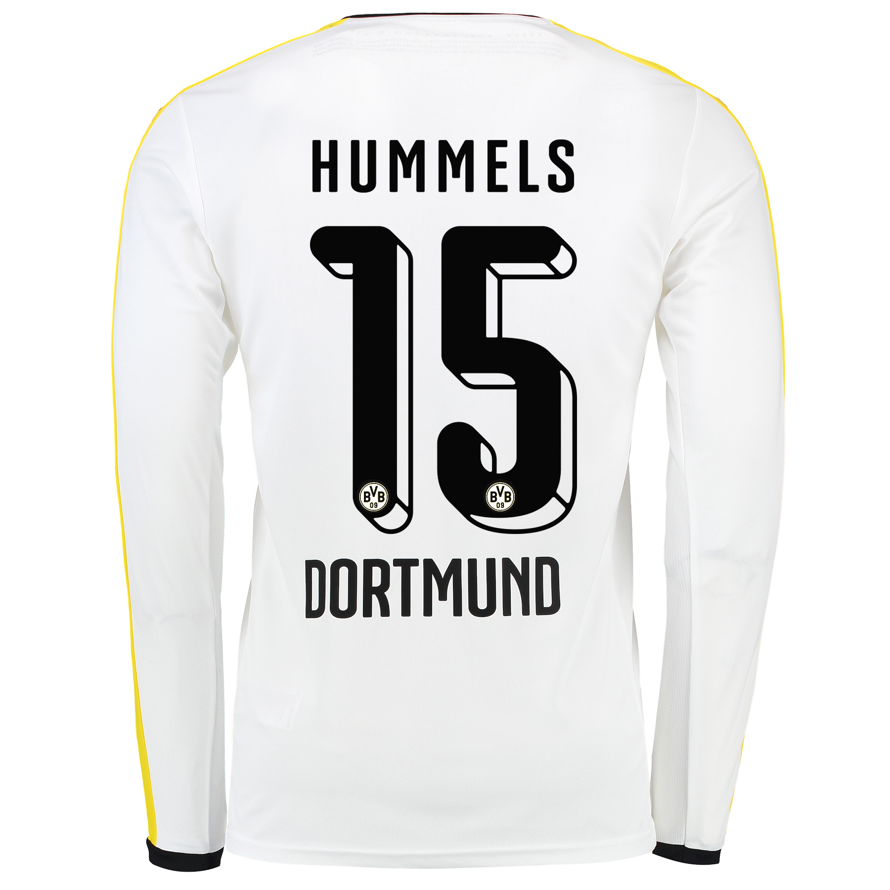 BVB Third Shirt 2015/16 – Long Sleeve White with Hummels 15 printing