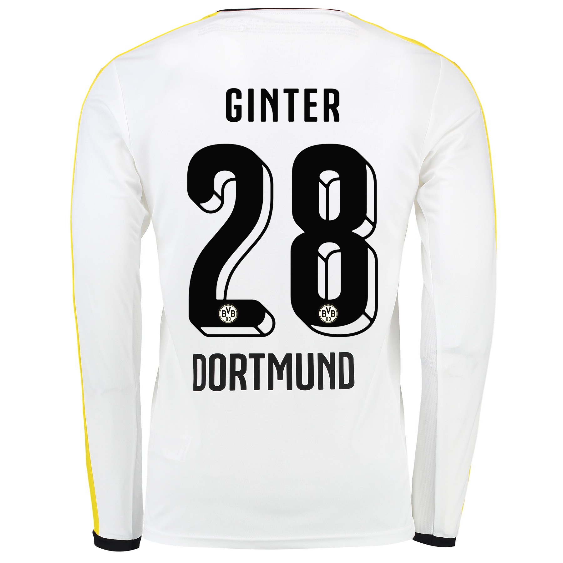 BVB Third Shirt 2015/16 – Long Sleeve White with Matthias Ginter 28 pr