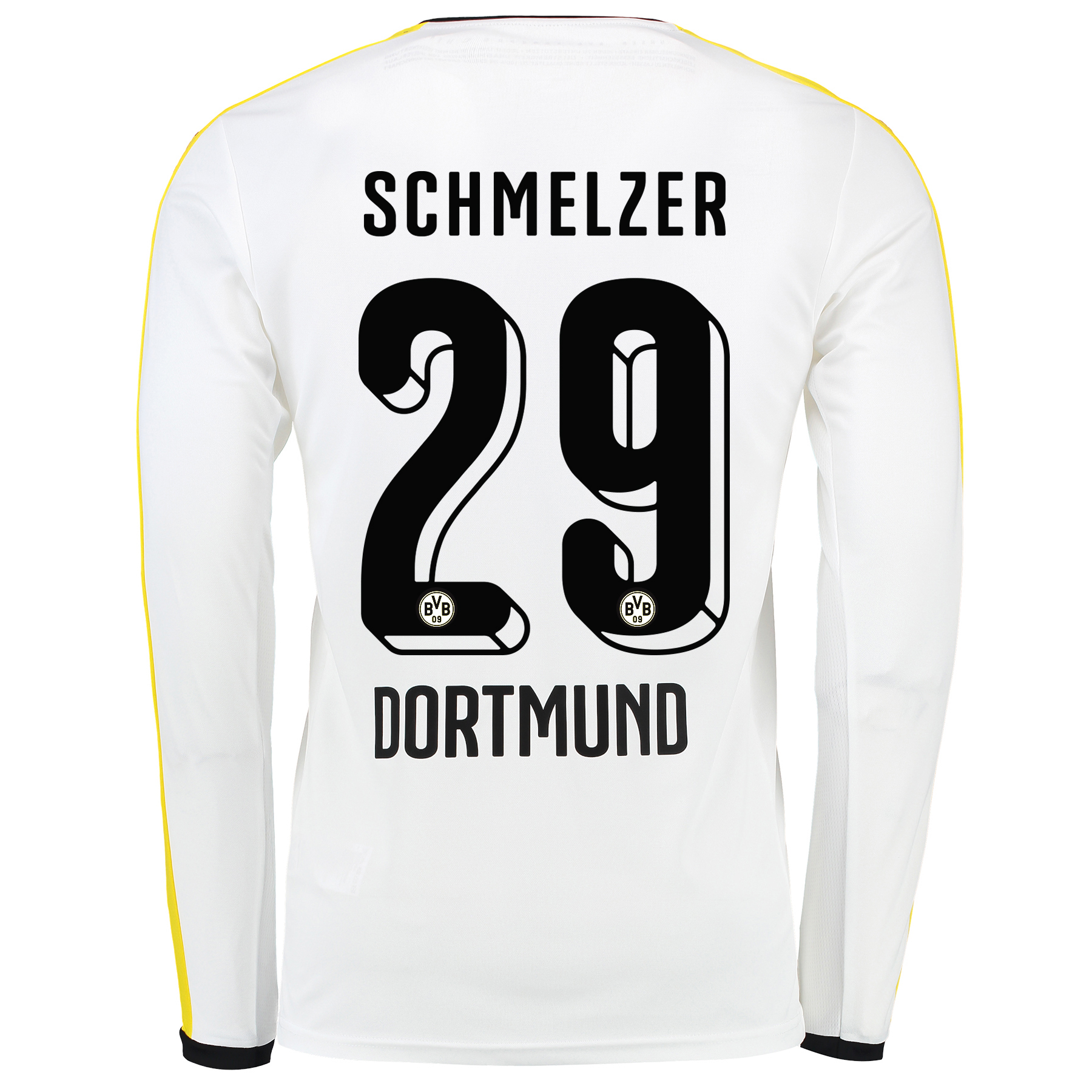 BVB Third Shirt 2015/16 – Long Sleeve White with Schmelzer 29 printing
