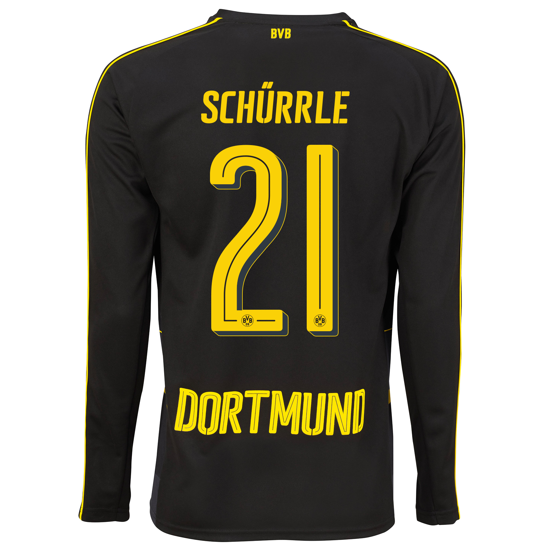 Image of BVB Away Shirt 2016-17 - Long Sleeve with Schürrle 21 printing, N/A