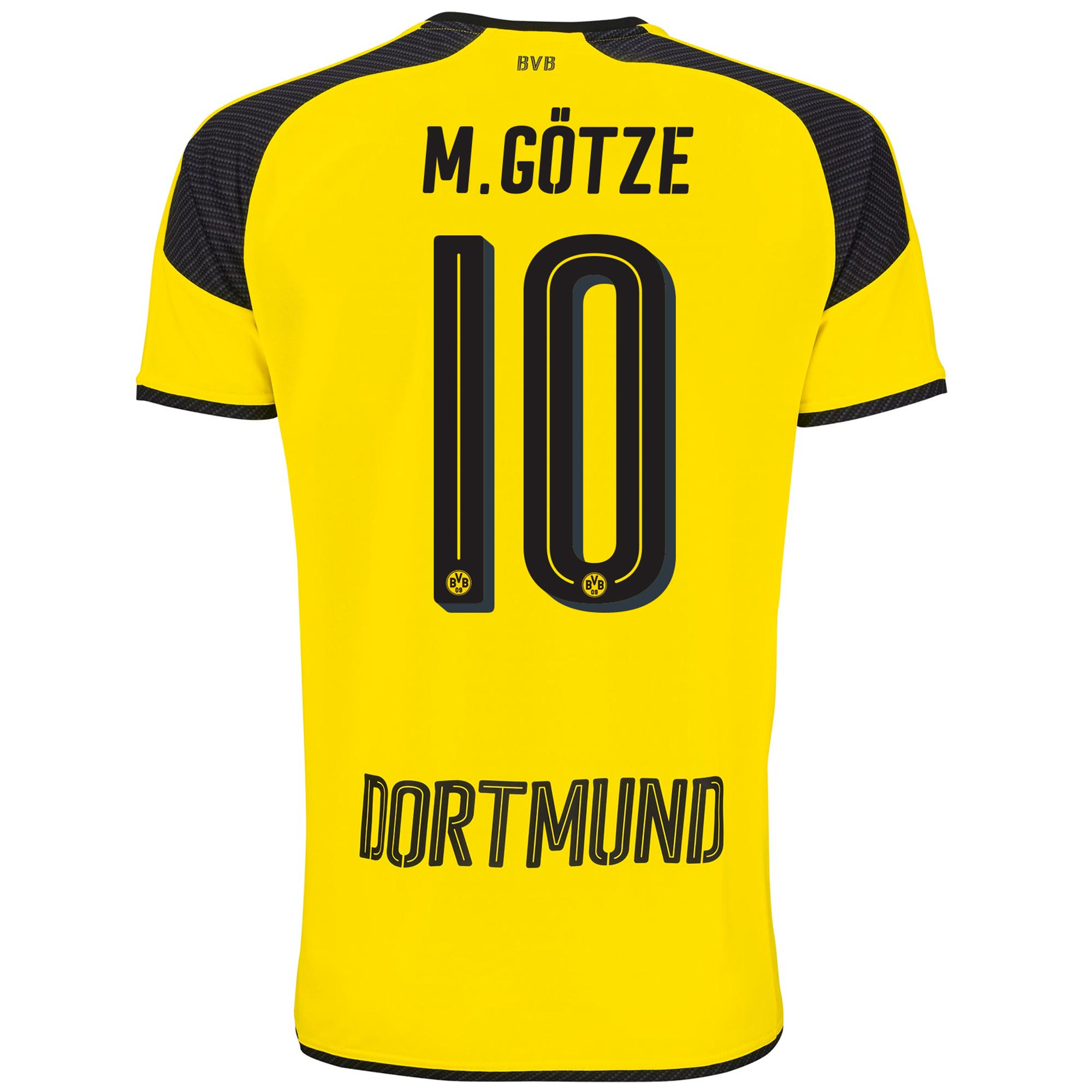 Image of BVB International Home Shirt 2016-17 with M. Götze 10 printing, N/A