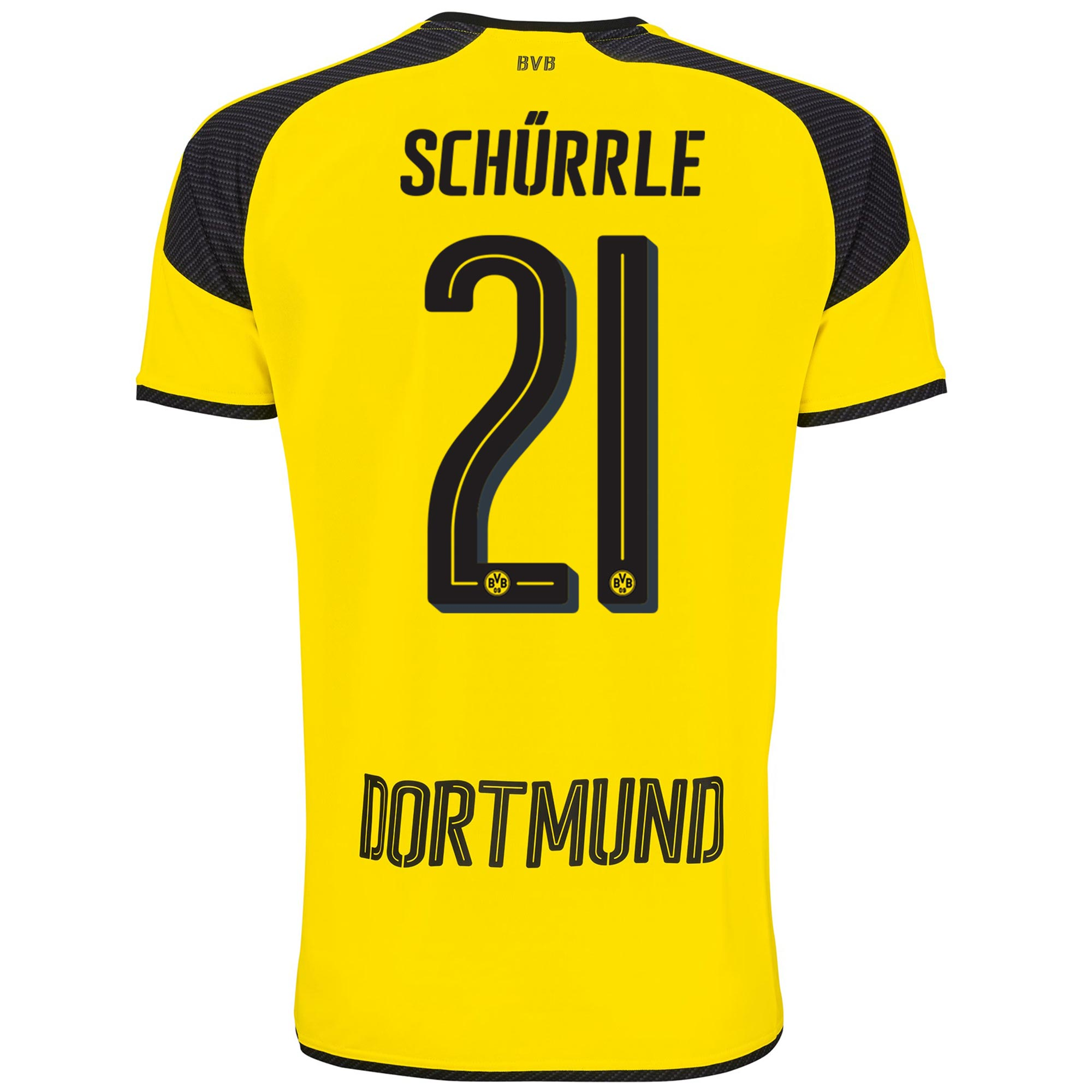 Image of BVB International Home Shirt 2016-17 with Schürrle 21 printing, N/A