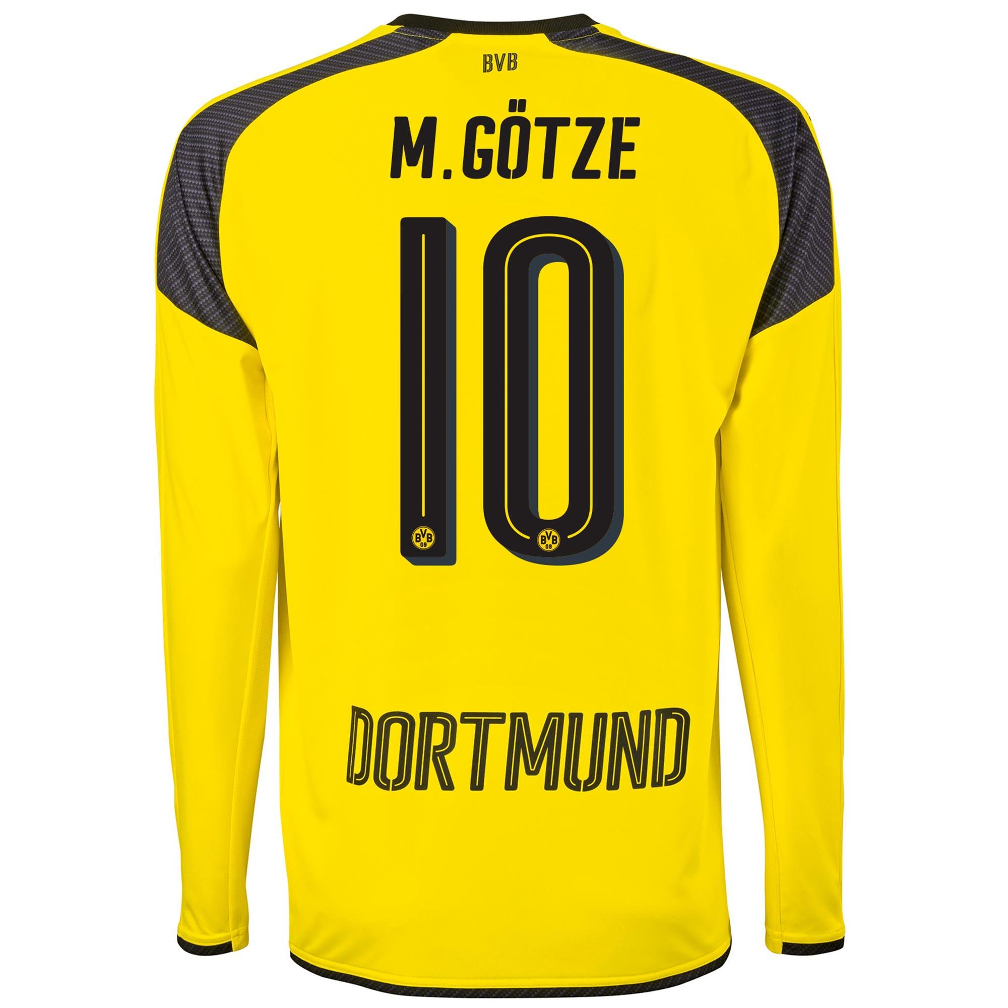 Image of BVB International Home Shirt 2016-17 - Long Sleeve with M. Götze 10 pr, N/A
