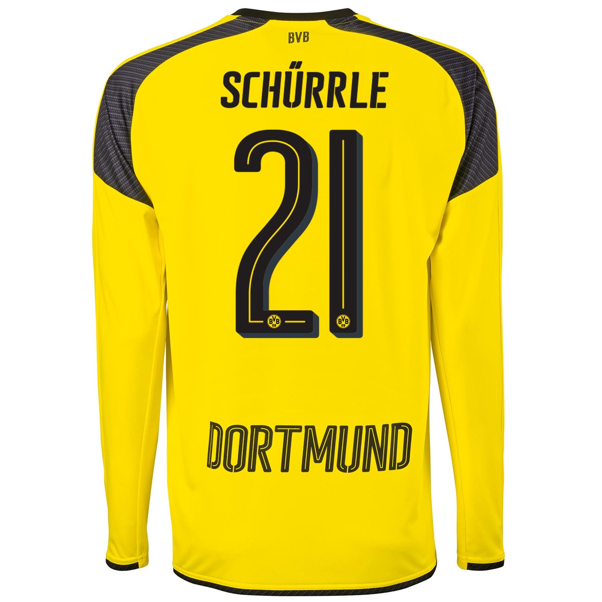 Image of BVB International Home Shirt 2016-17 - Long Sleeve with Schürrle 21 pr, N/A