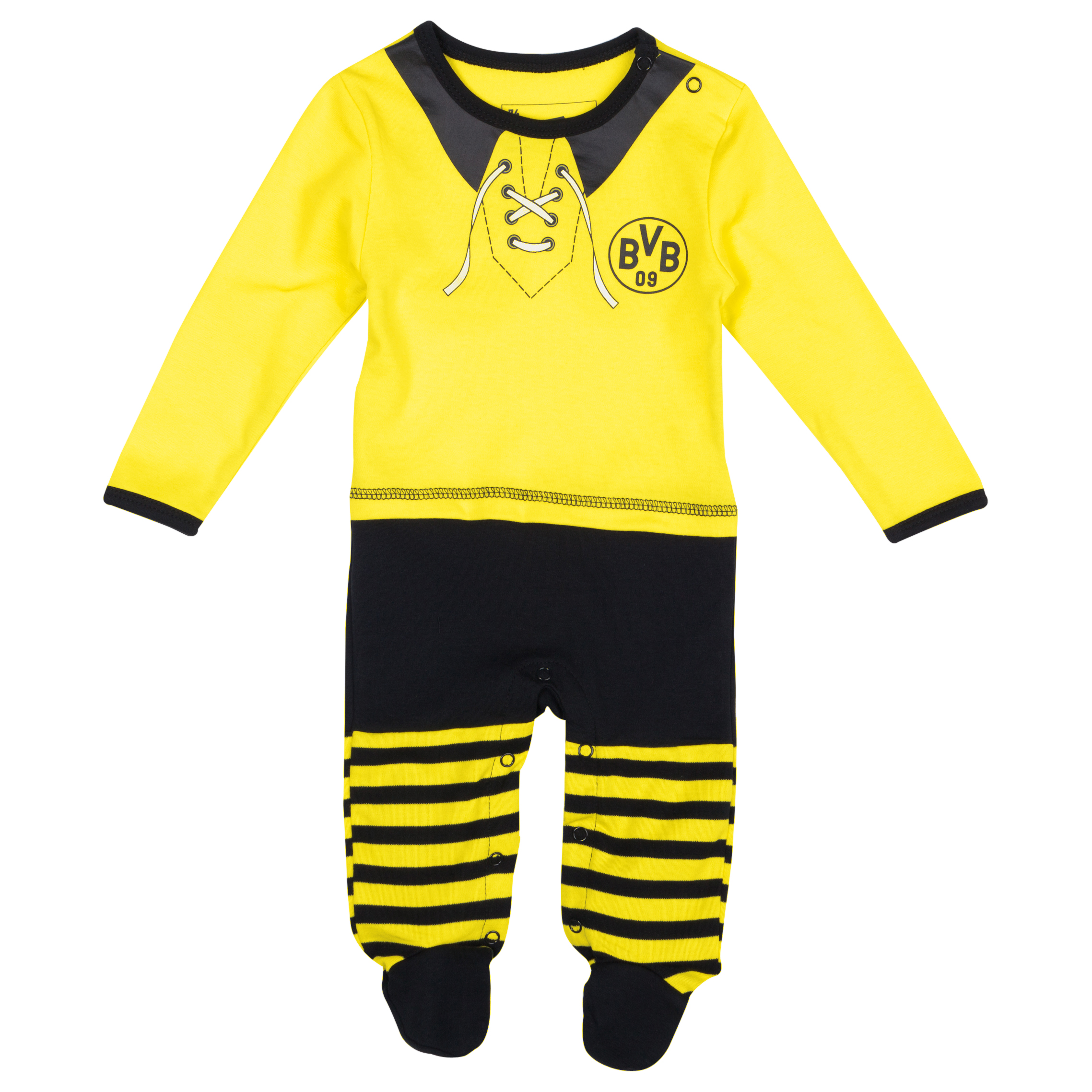 BVB Home Kit Long Sleeved Sleepsuit Baby Yellow
