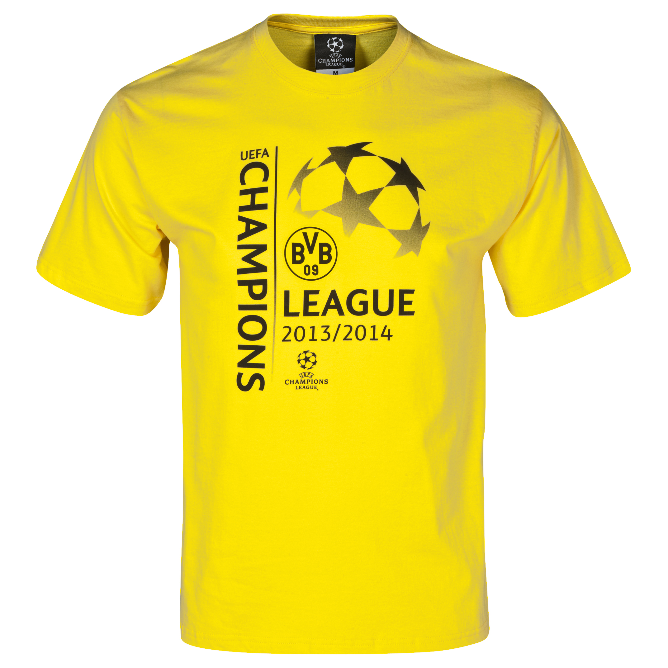 BVB UCL Graphic T-Shirt - Mens Yellow