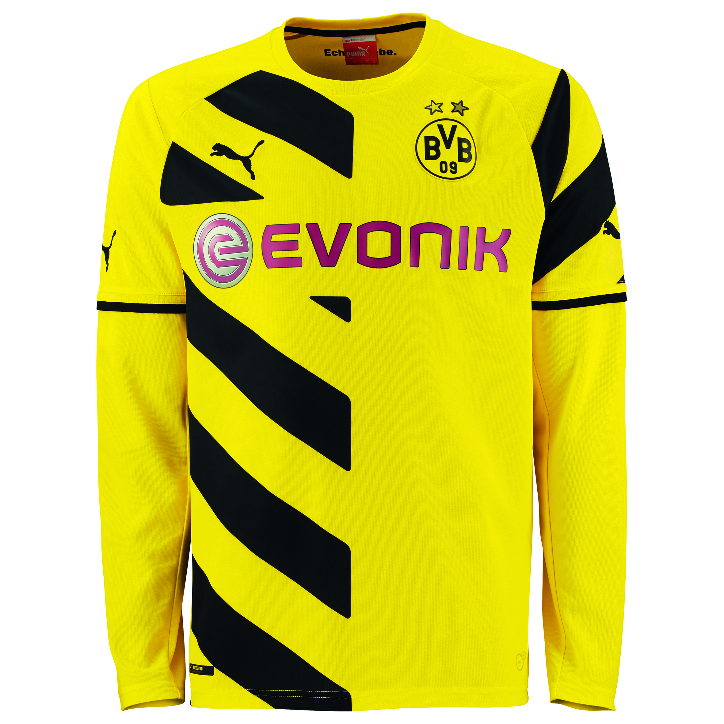 BVB Home Shirt 2014/15 - Long Sleeve - Kids Yellow