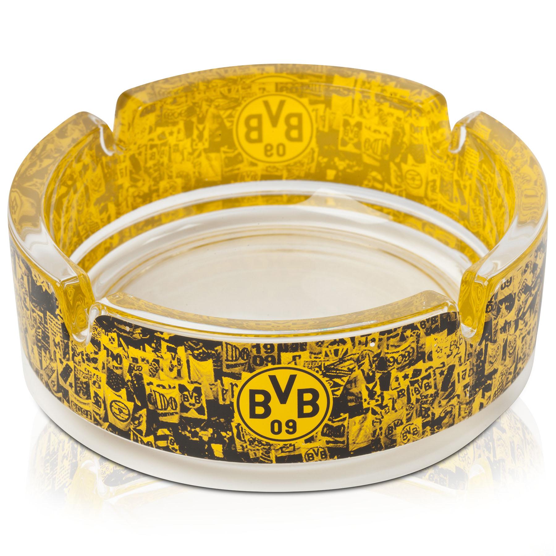 Image of BVB Glass Ashtray, Yellow
