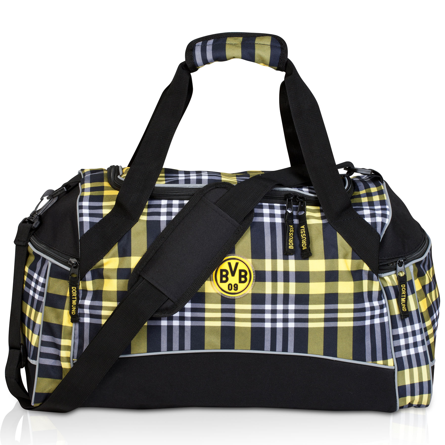 BVB Plaid Sports Bag