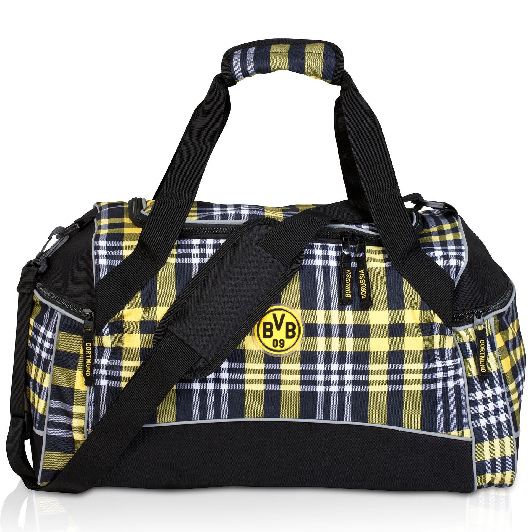BVB Plaid Sports Bag
