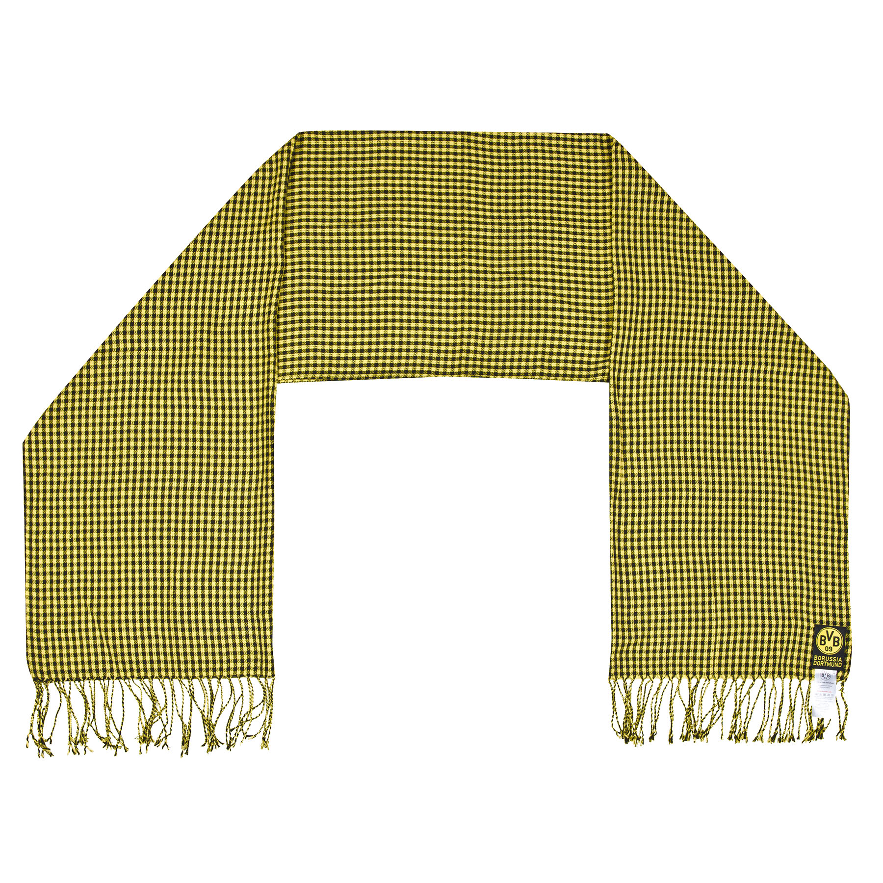 BVB Exclusive Small Square Check Scarf – Yellow/Black