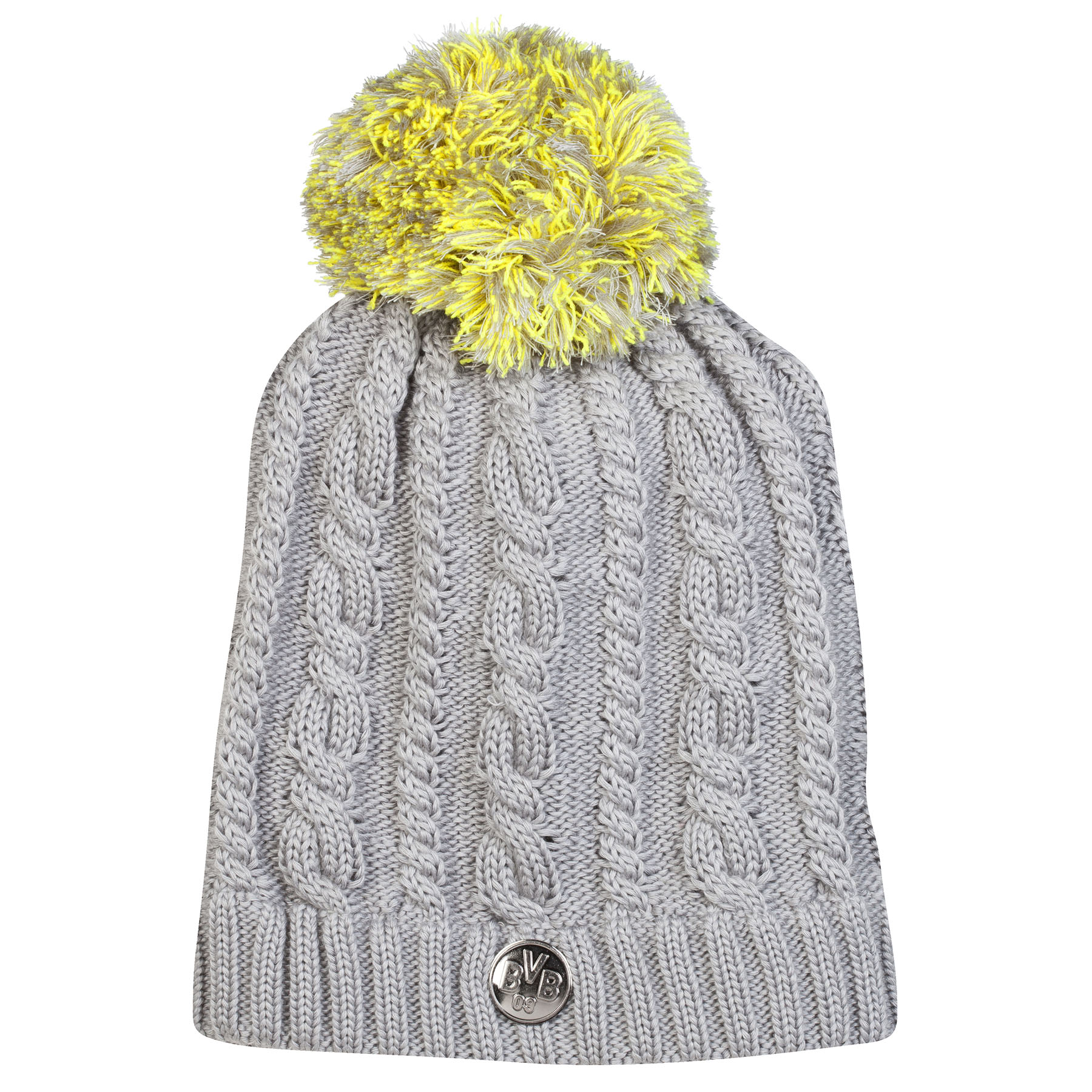BVB Bobble Beanie Hat - Grey