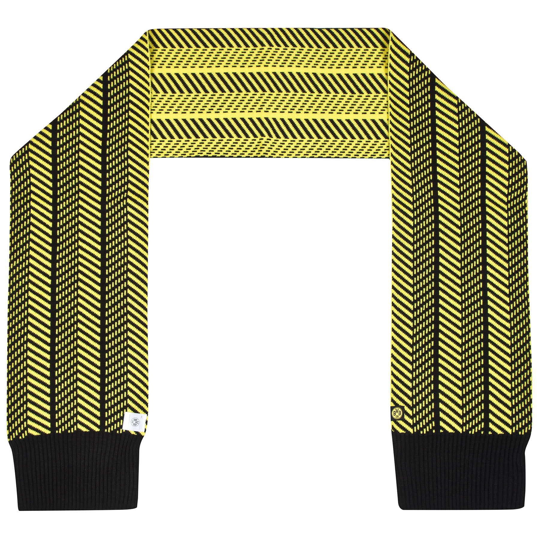 BVB Herringbone Fashion Scarf - Black/Yellow