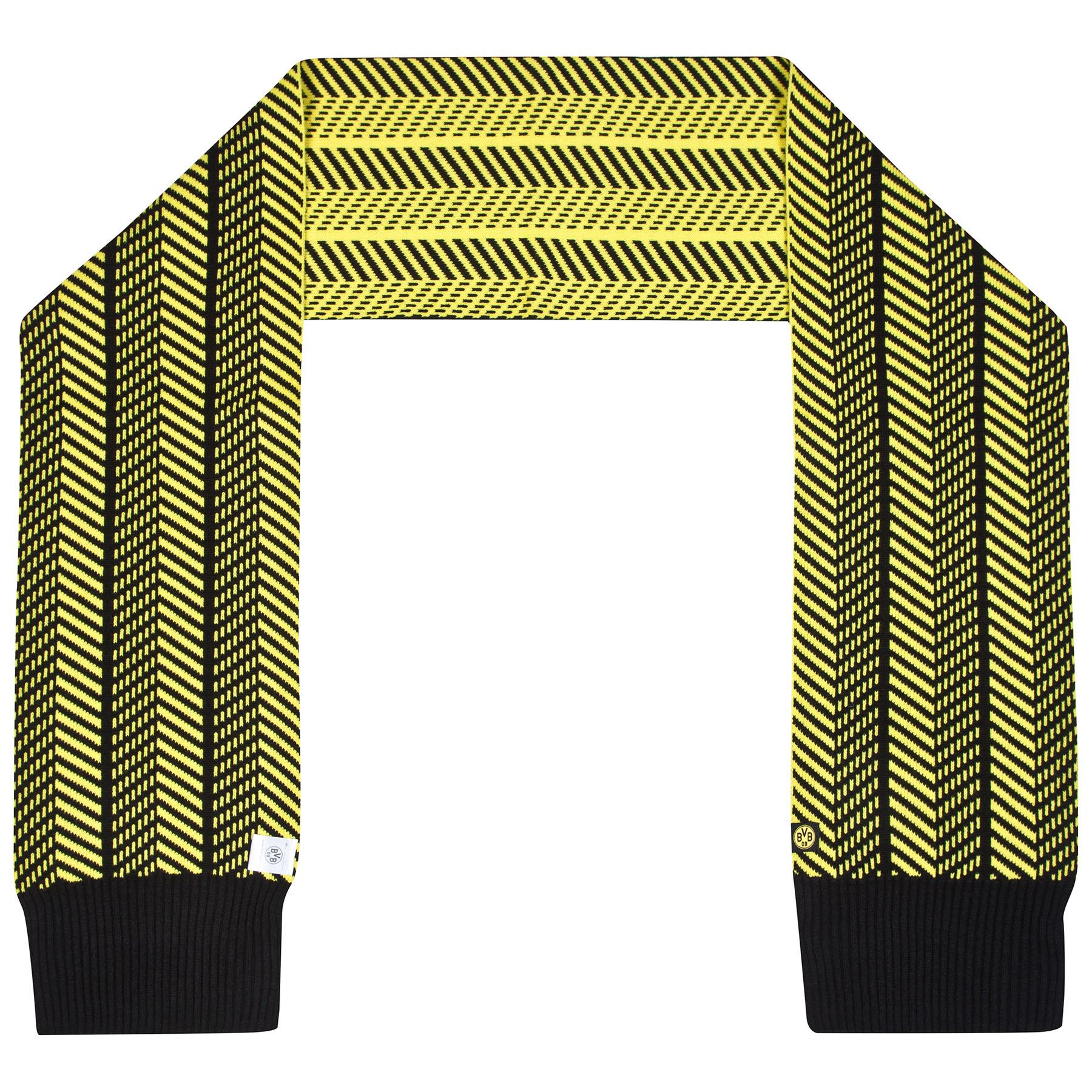 BVB Herringbone Fashion Scarf – Black/Yellow