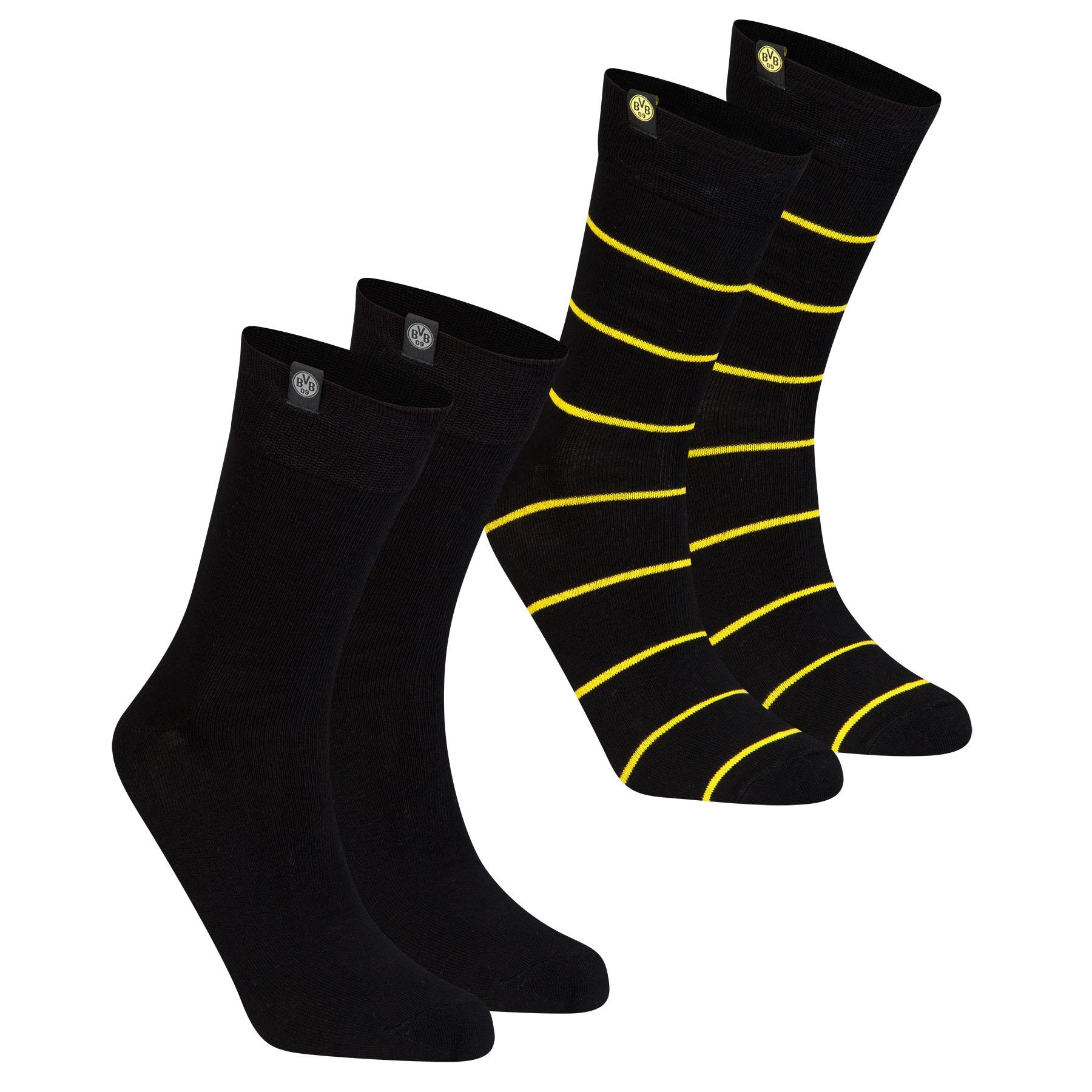 BVB 2 Pack Cotton Socks – Black