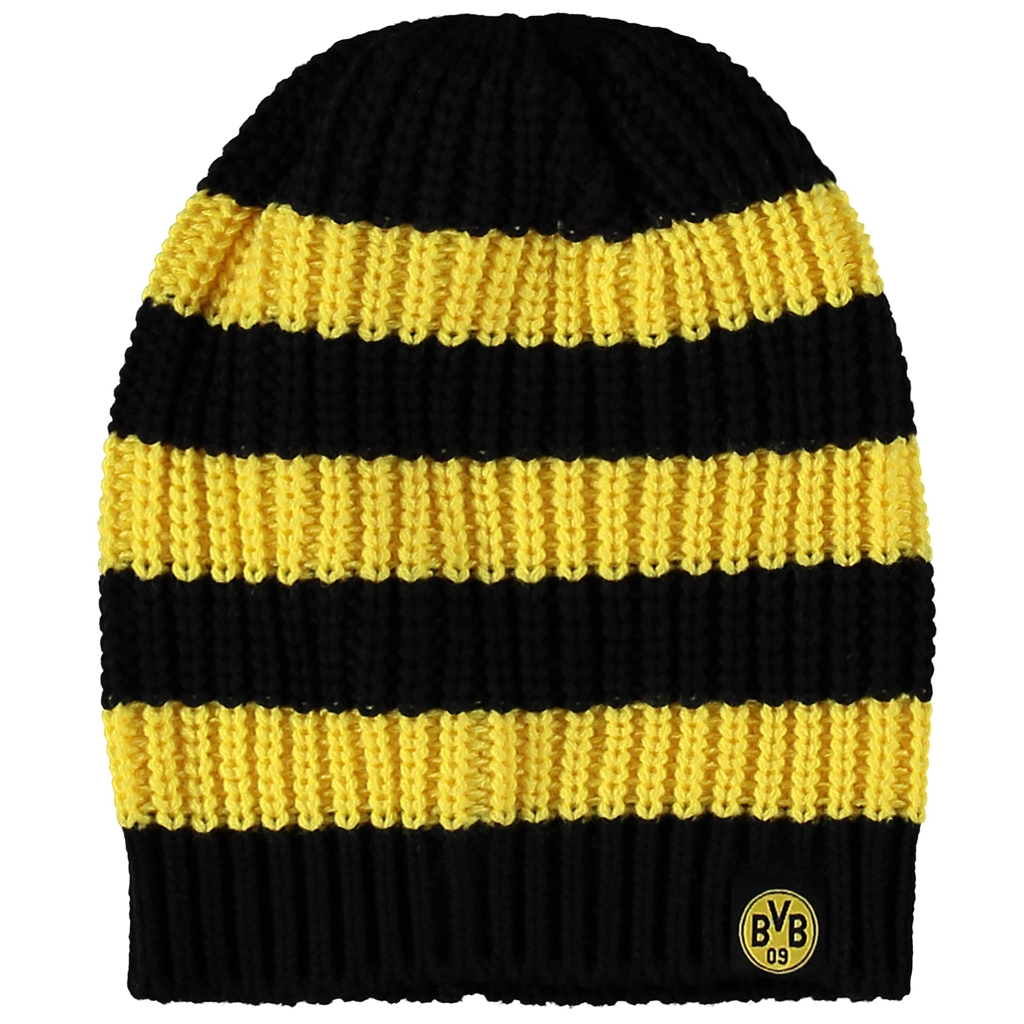BVB Striped Beanie Hat – Black/Yellow