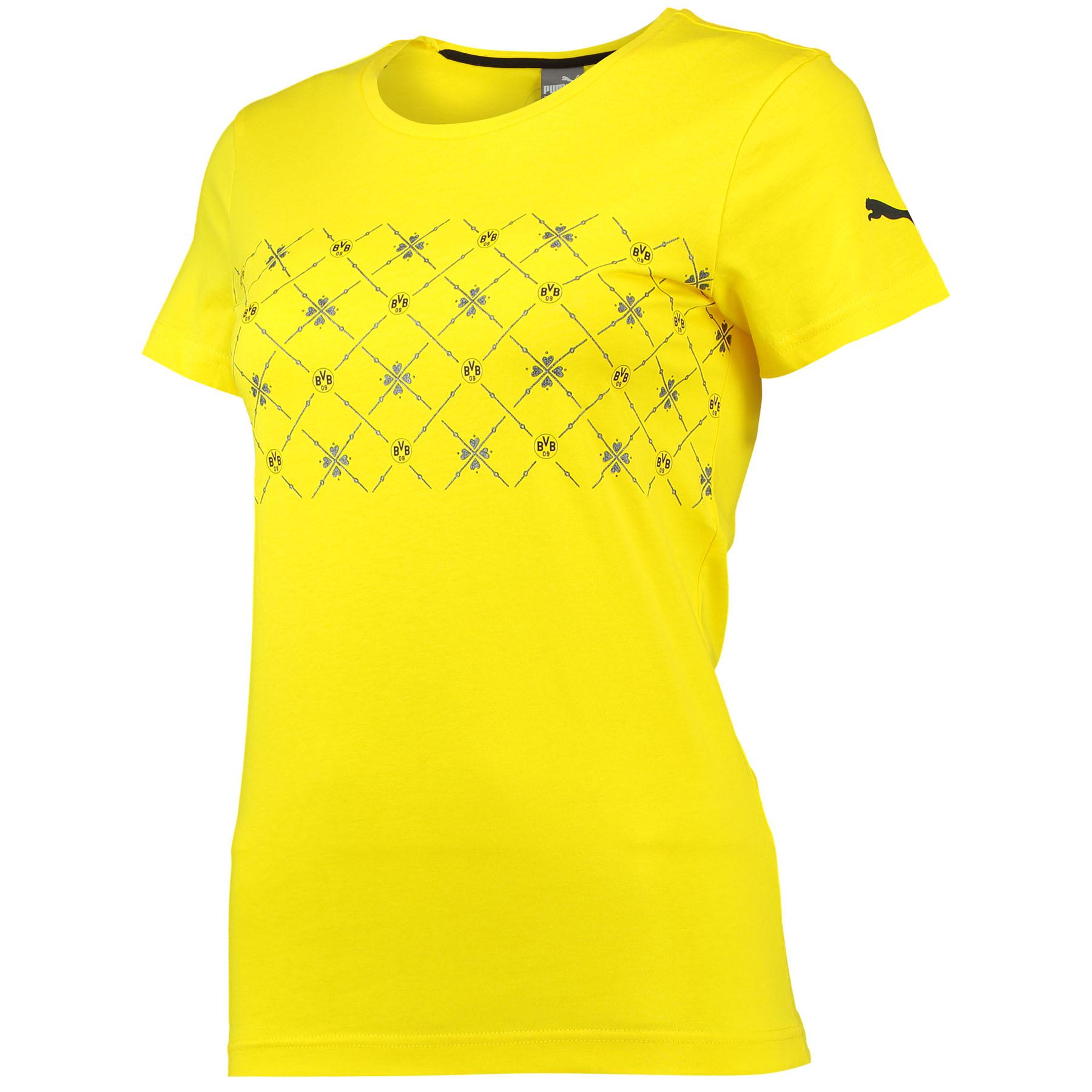 BVB Fan T-Shirt – Womens Yellow
