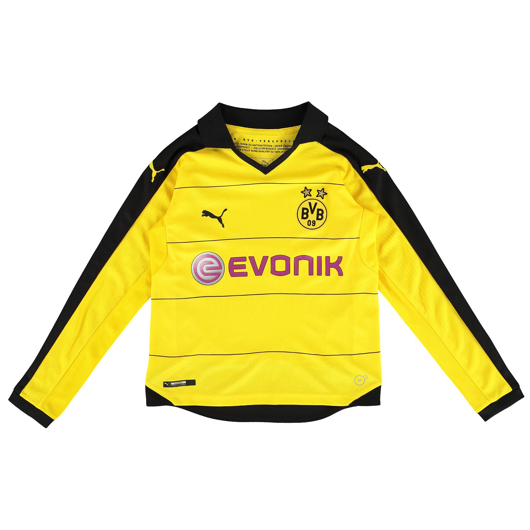 BVB Home Shirt 2015/16 – Long Sleeve – Kids Yellow