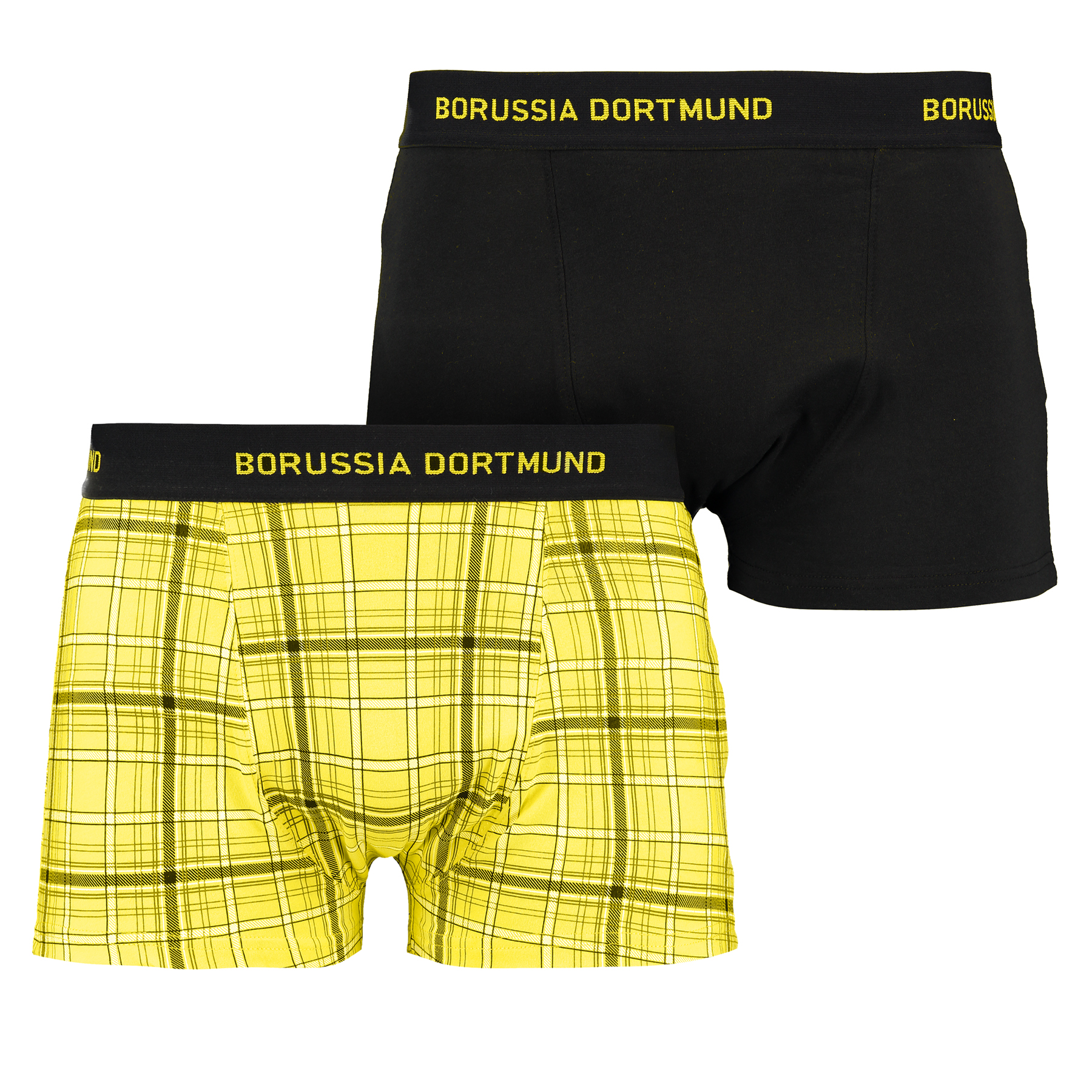 BVB Pack of 2 Boxer Briefs – Black/Yellow