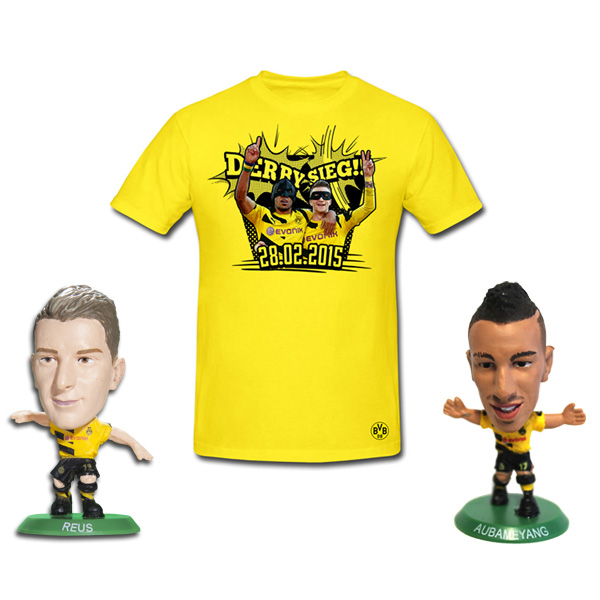 BVB Derby Victory T-Shirt - Junior - Includes 2 SoccerStarz Figures