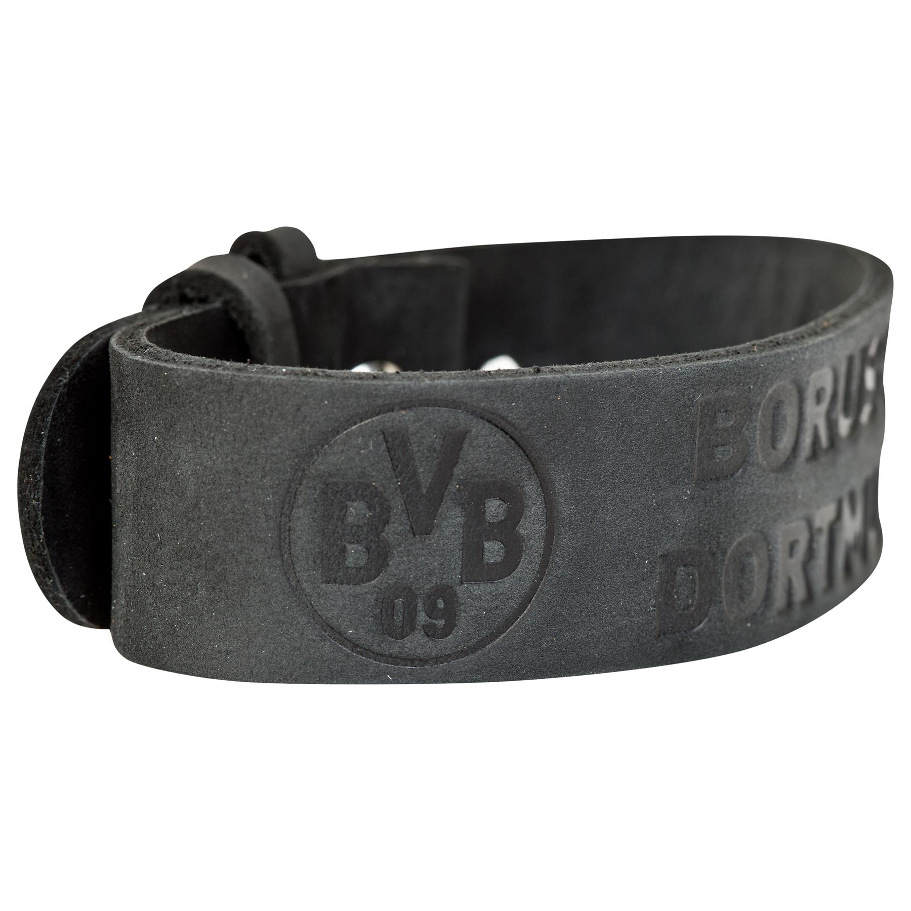 BVB Black Leather Bracelet, Blue