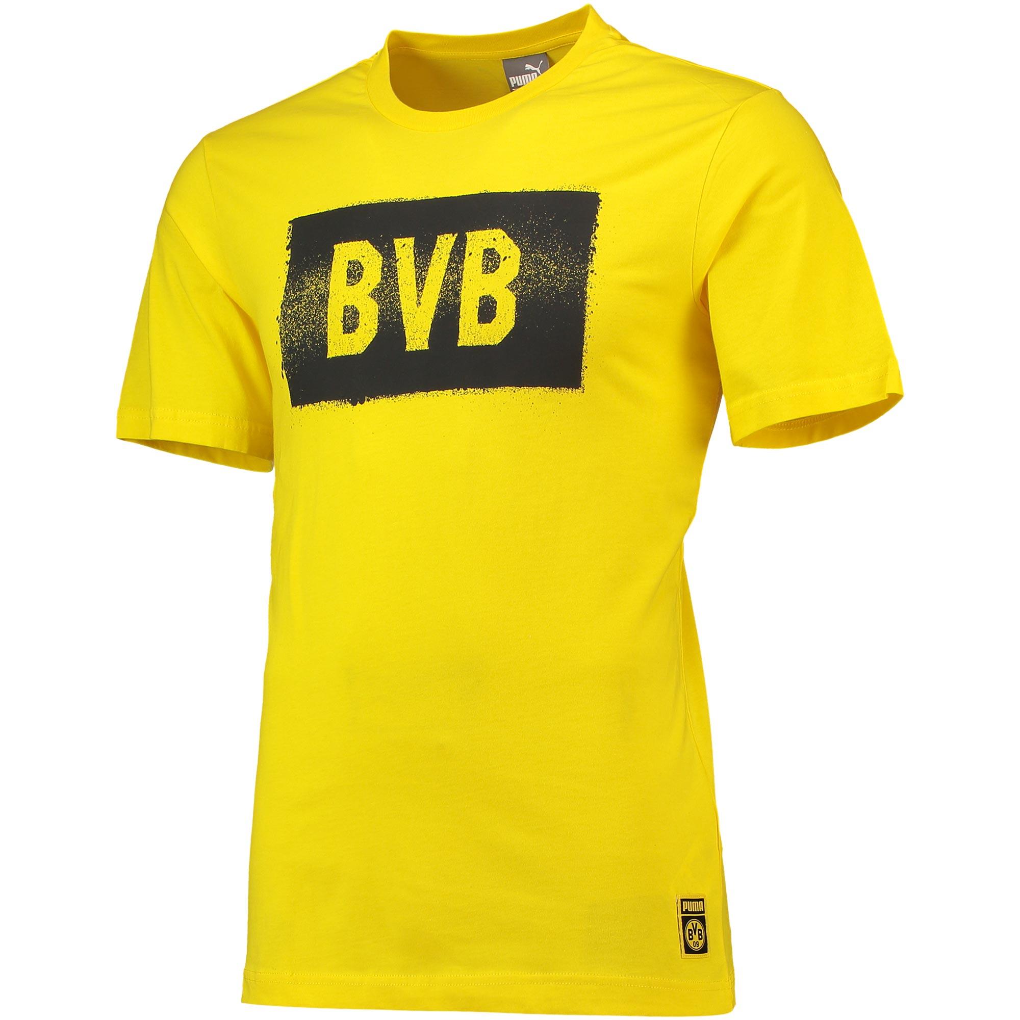 Camiseta Stencil del BVB en amarillo