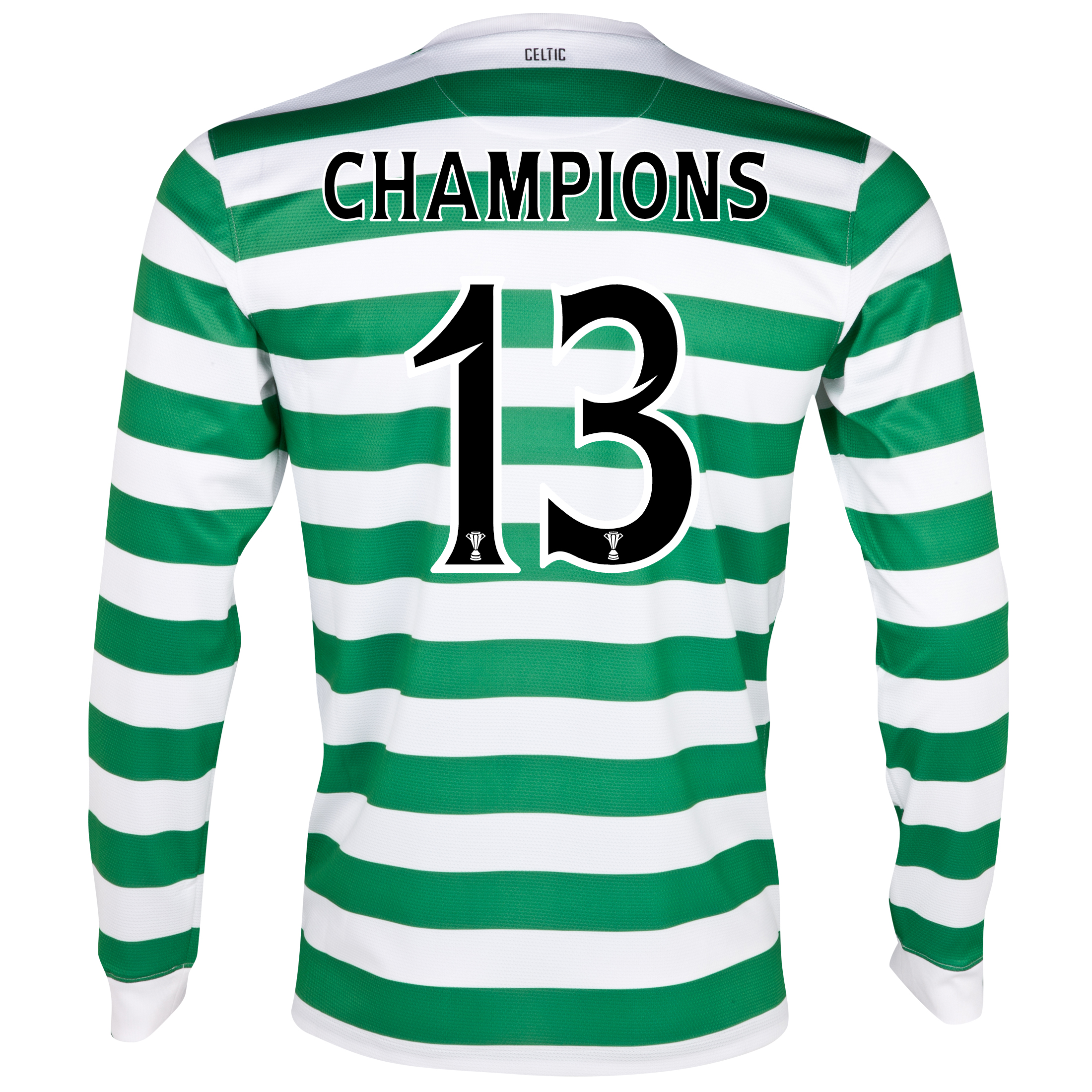 Celtic Home Shirt 2012/13 - Long Sleeved - No Sponsor with Champions 13 printing