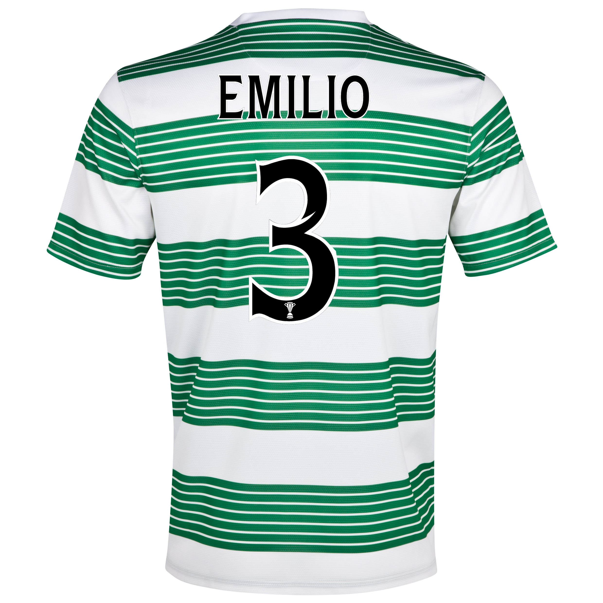 Celtic Home Shirt 2013/15 - With Sponsor with Emilio 3 printing