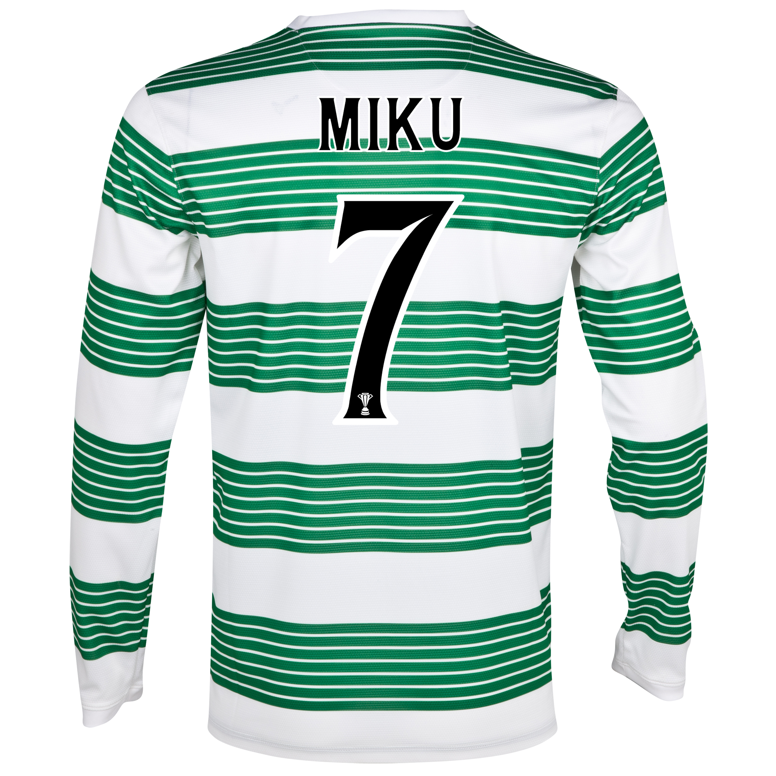 Celtic Home Shirt 2013/14 - L/S- Unsponsored with Miku 7 printing