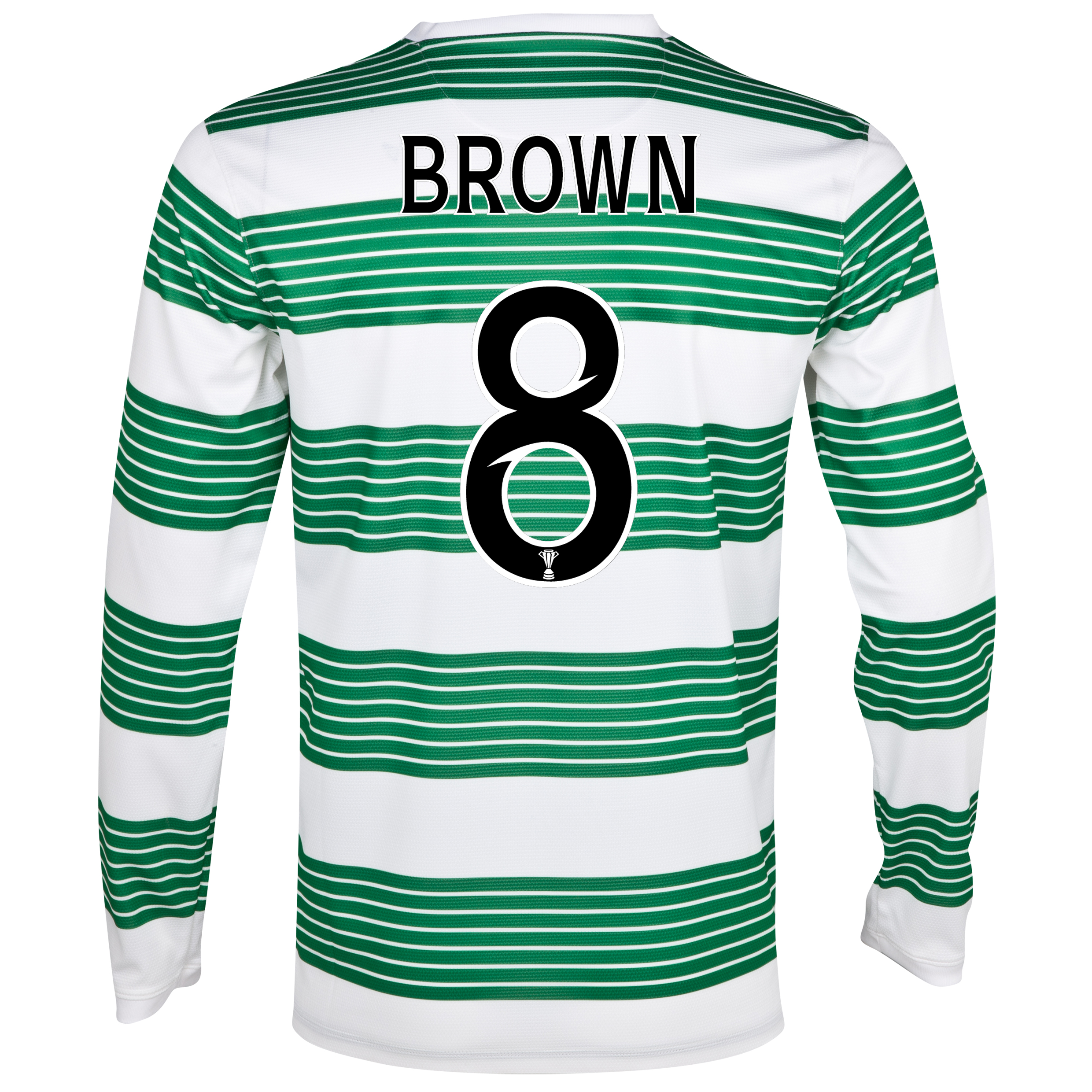 Celtic Home Shirt 2013/14 - L/S- Unsponsored with Brown 8 printing