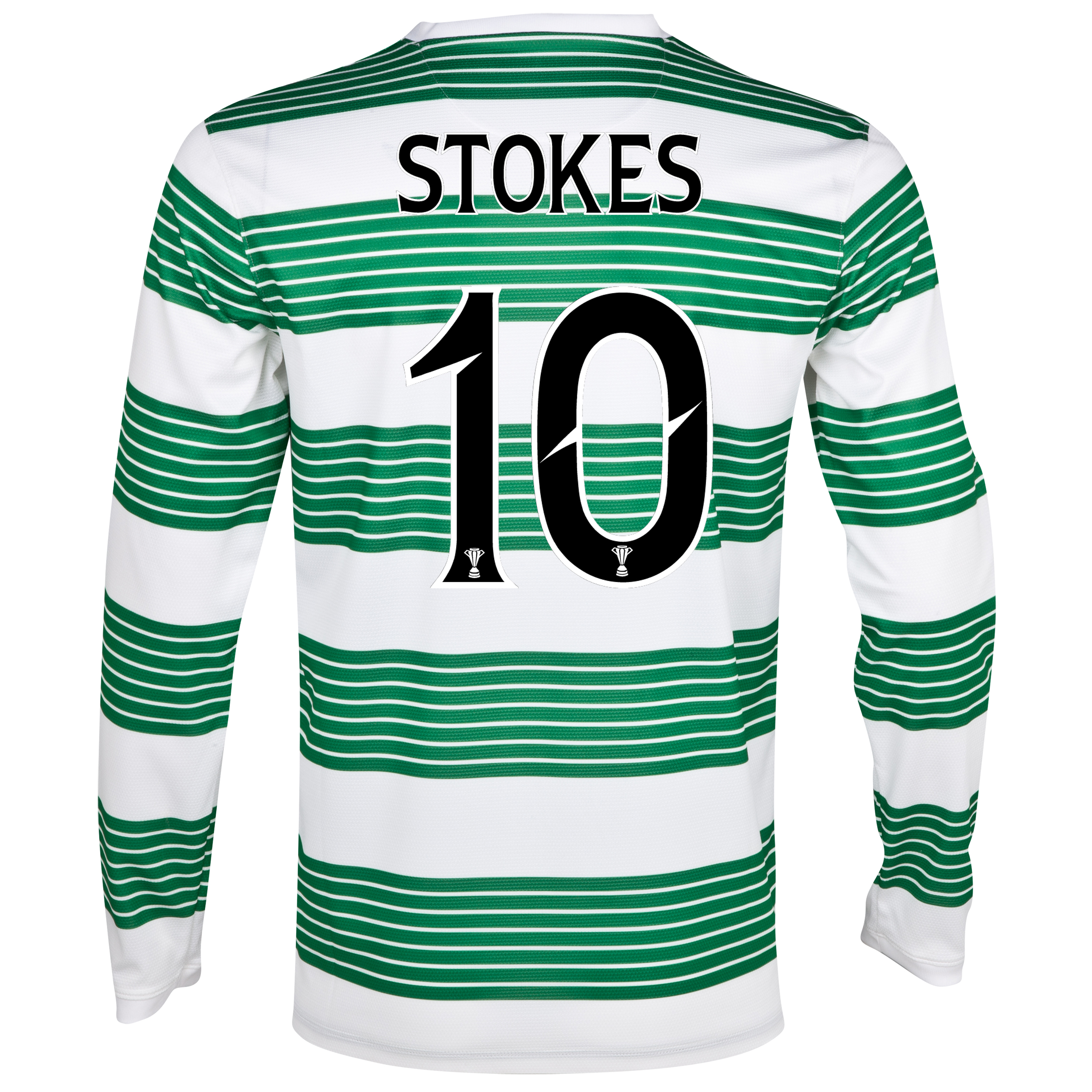 Celtic Home Shirt 2013/14 - L/S- Unsponsored with Stokes 10 printing