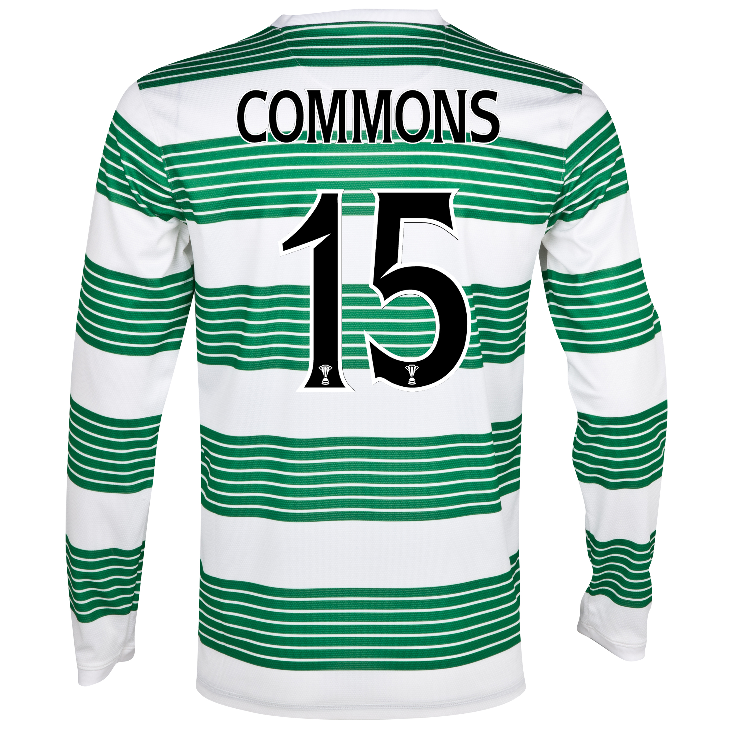 Celtic Home Shirt 2013/14 - L/S- Unsponsored with Commons 15 printing