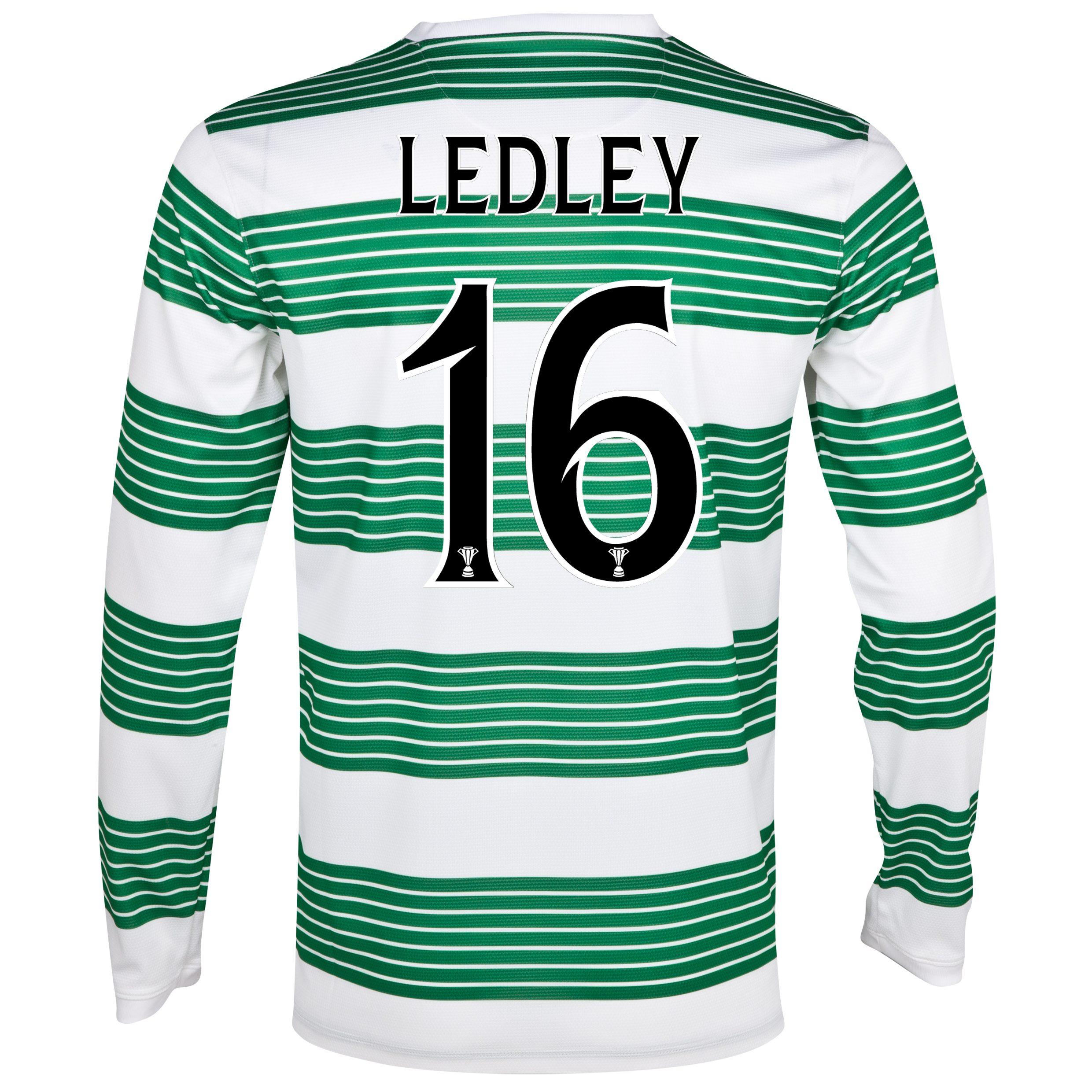 Celtic Home Shirt 2013/14 - L/S- Unsponsored with Ledley 16 printing