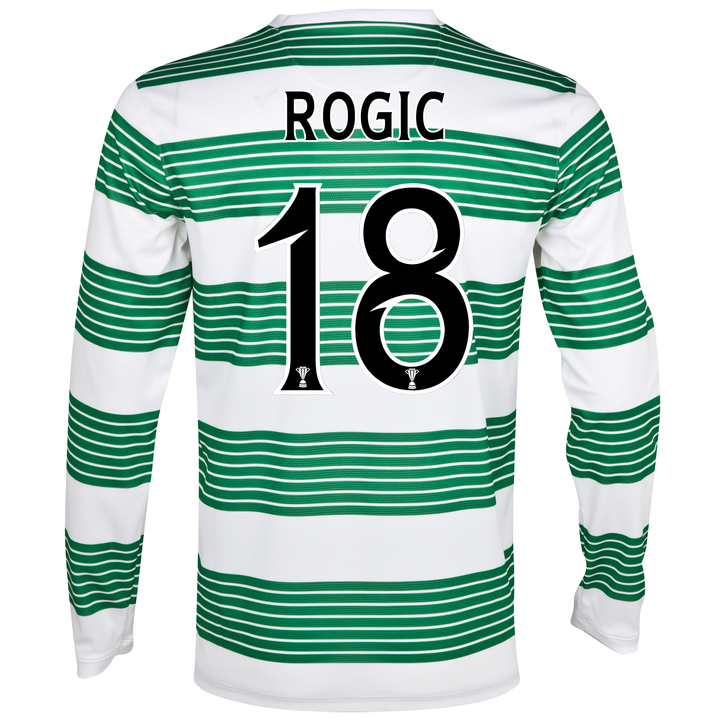 Celtic Home Shirt 2013/14 - L/S- Unsponsored with Rogic 18 printing