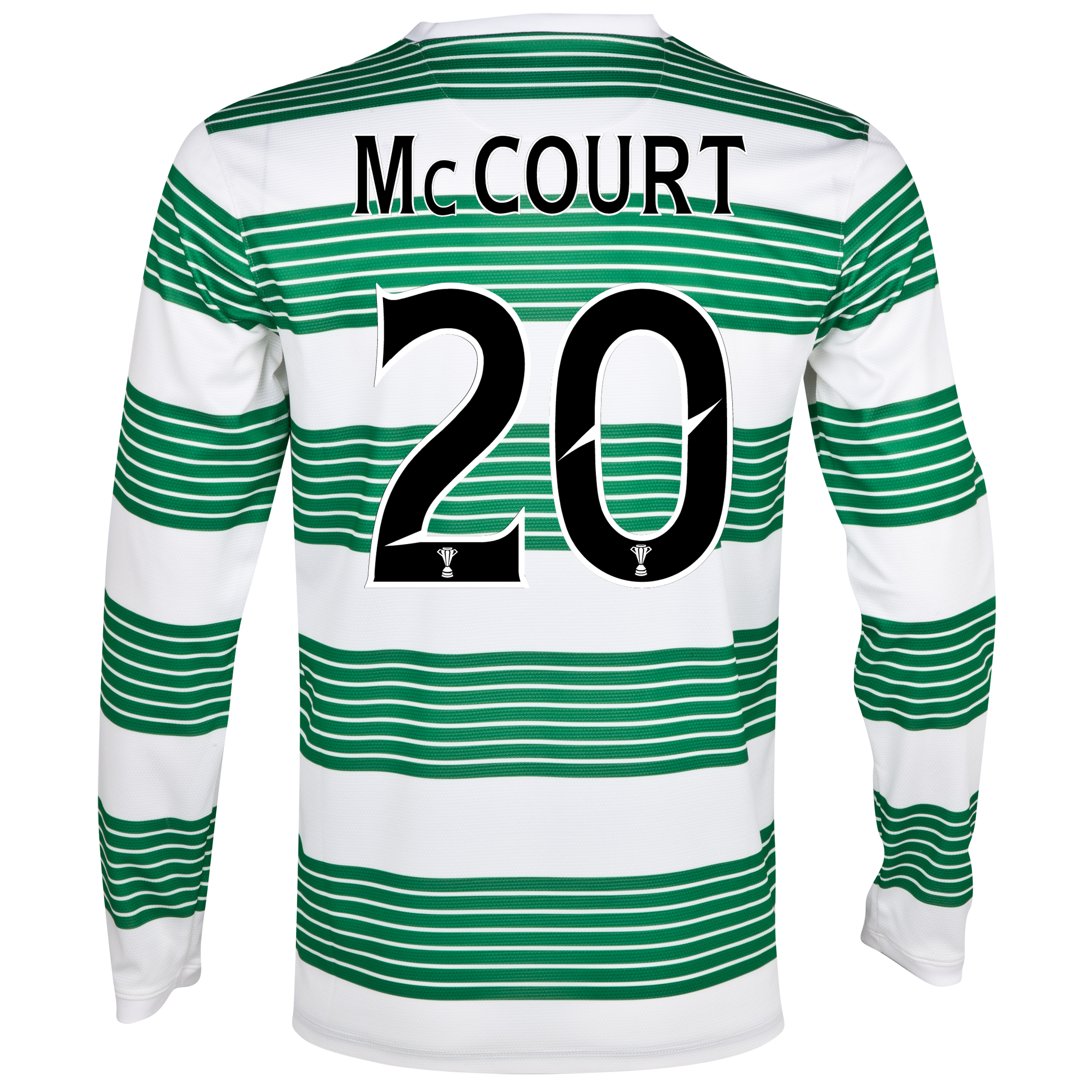 Celtic Home Shirt 2013/14 - L/S- Unsponsored with McCourt 20 printing