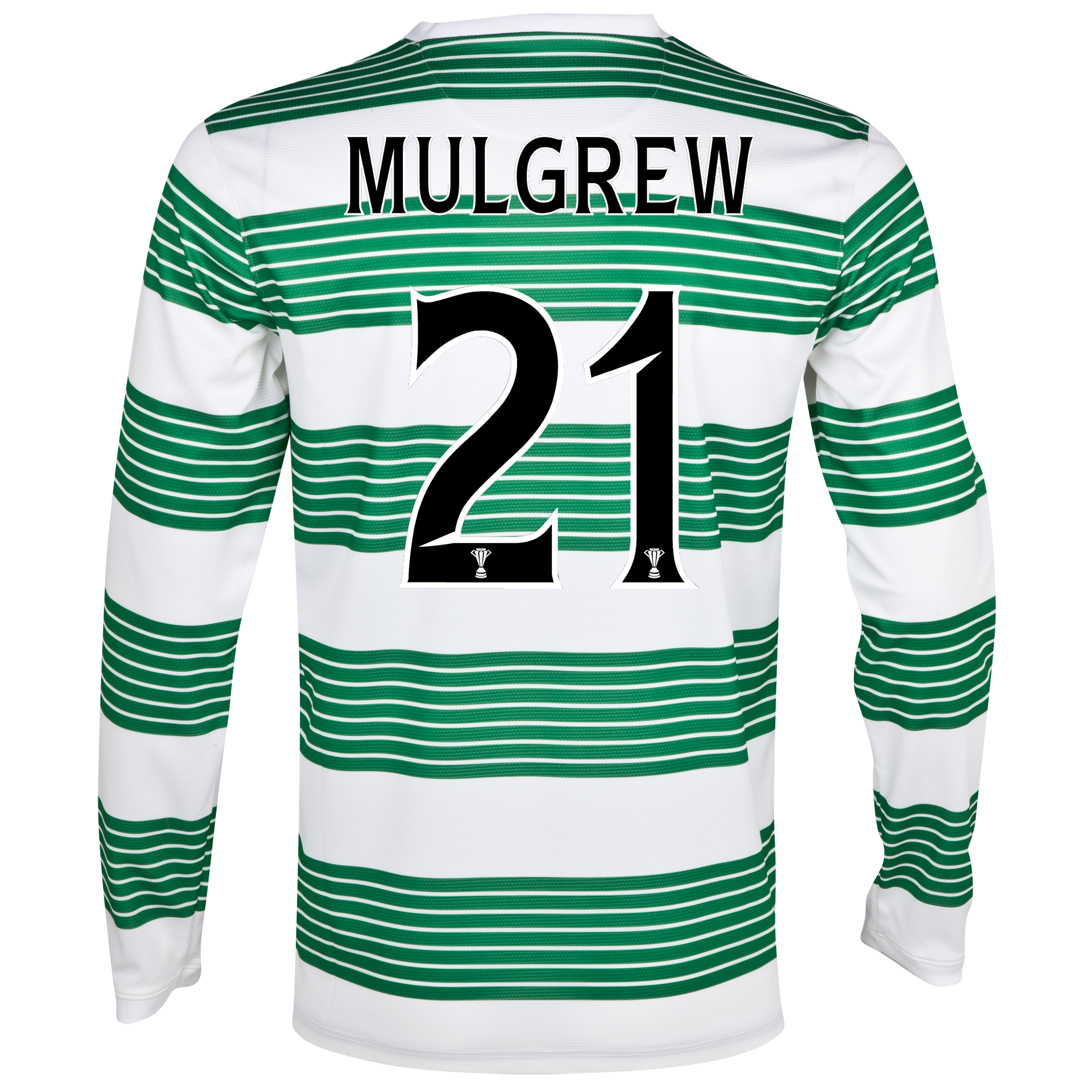 Celtic Home Shirt 2013/14 - L/S- Unsponsored with Mulgrew 21 printing