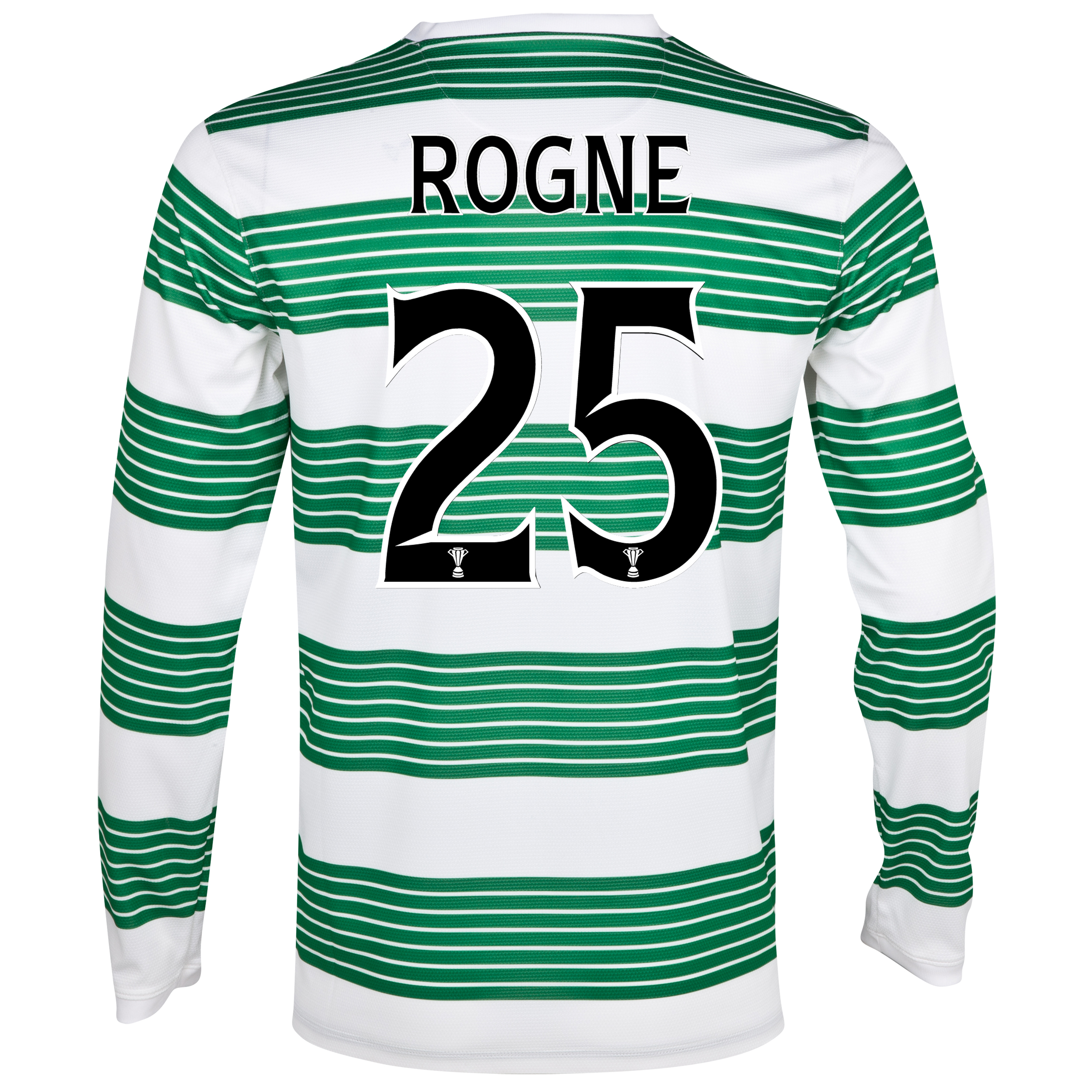 Celtic Home Shirt 2013/14 - L/S- Unsponsored with Rogne 25 printing