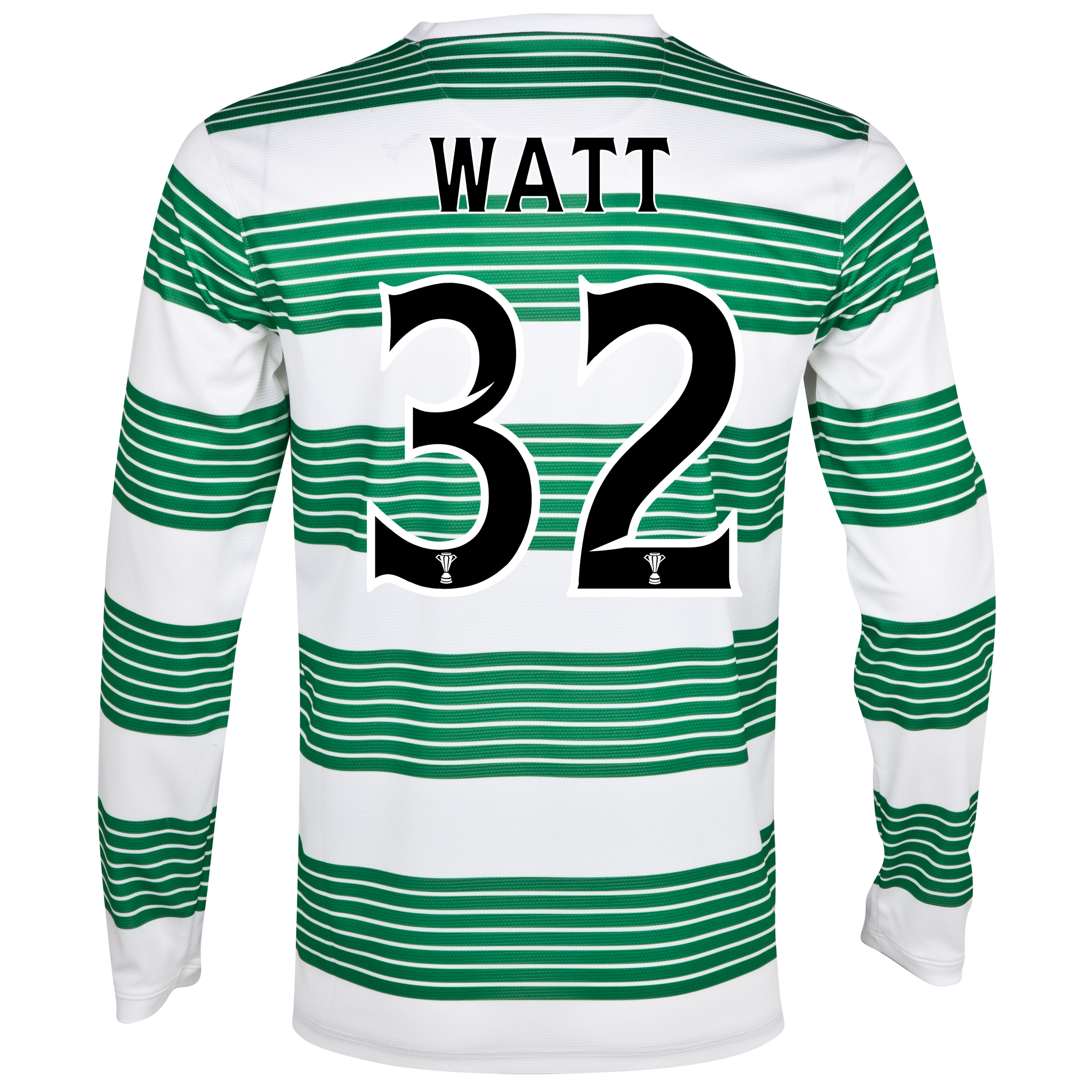 Celtic Home Shirt 2013/14 - L/S- Unsponsored with Watt 32 printing