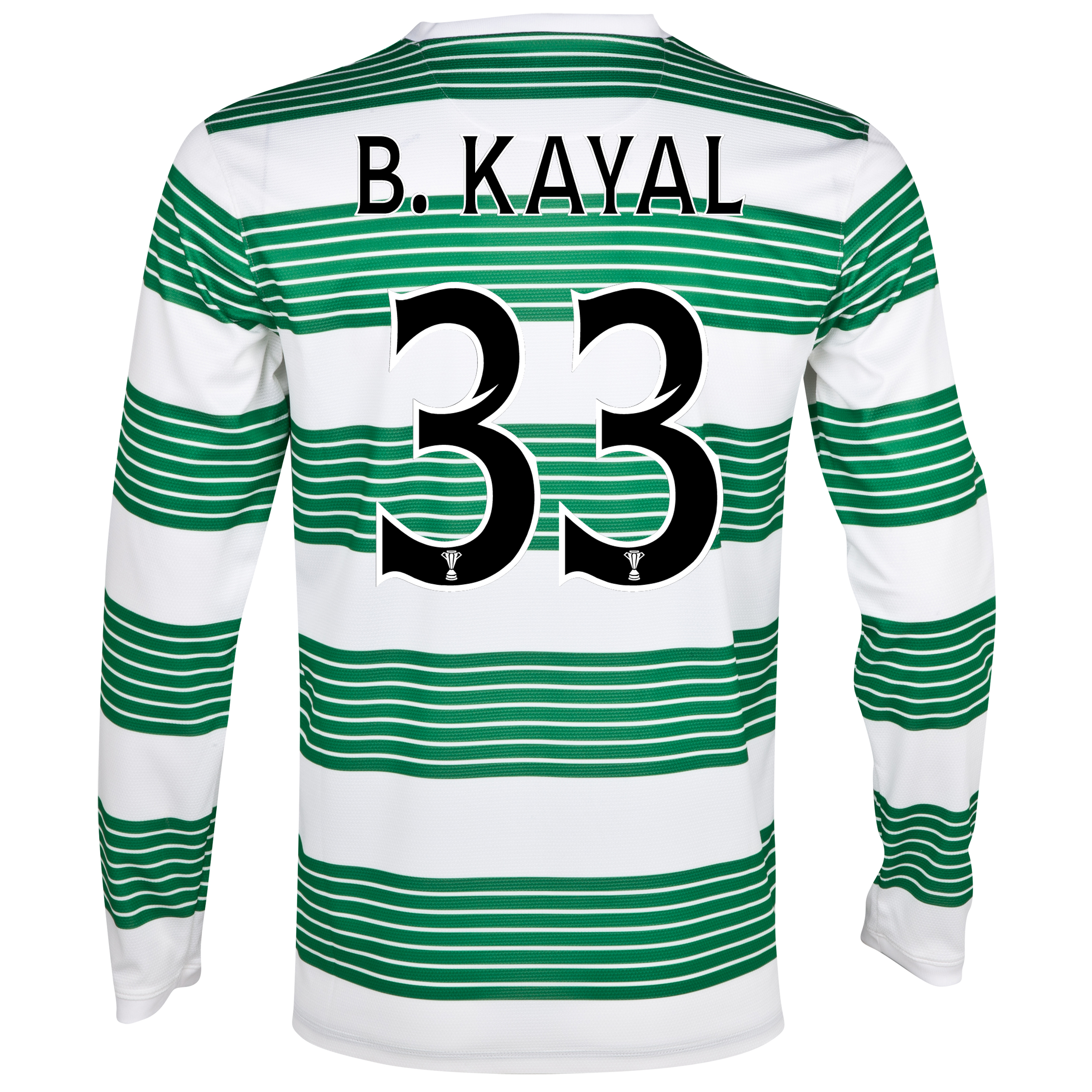 Celtic Home Shirt 2013/14 - L/S- Unsponsored with B.Kayal 33 printing
