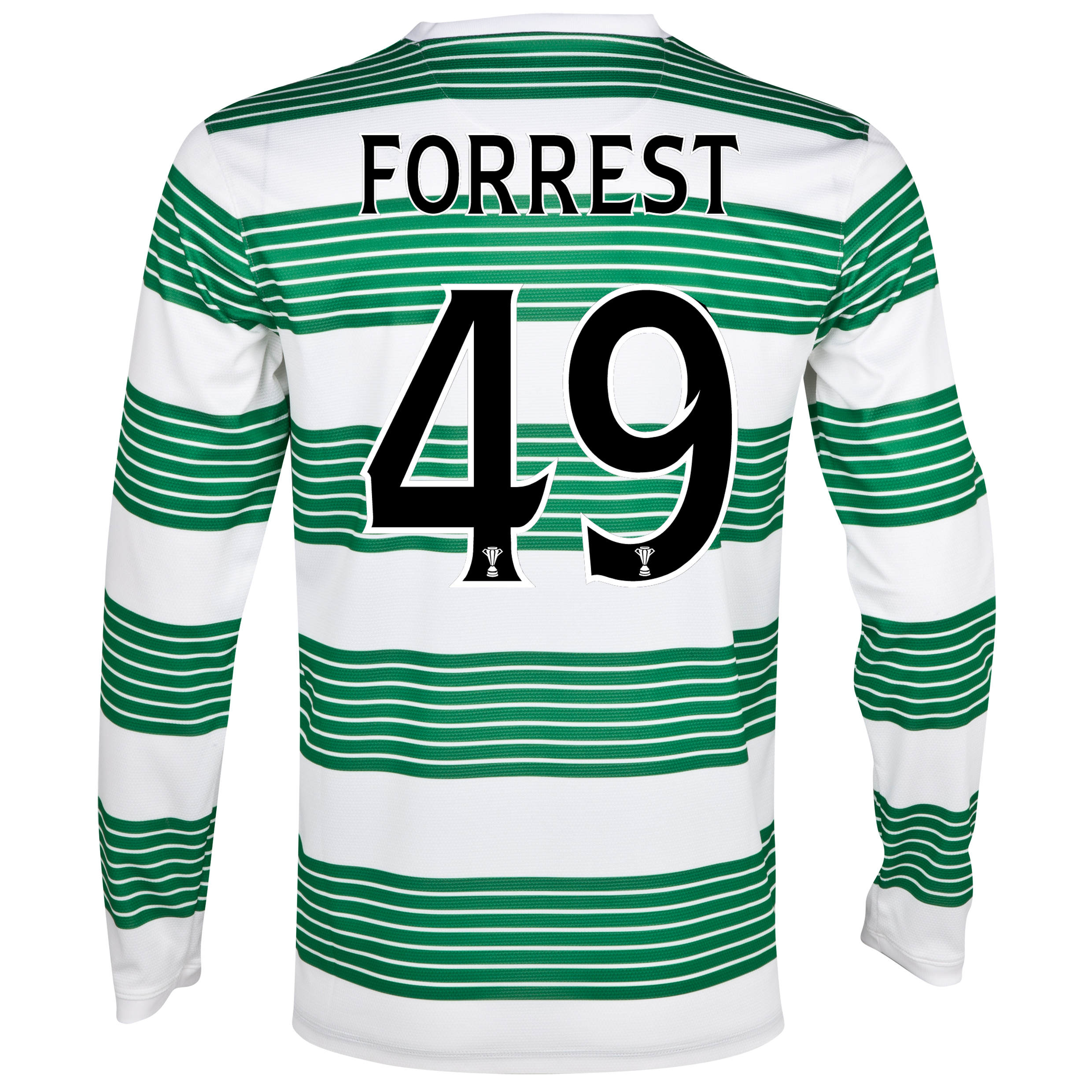Celtic Home Shirt 2013/14 - L/S- Unsponsored with Forrest 49 printing