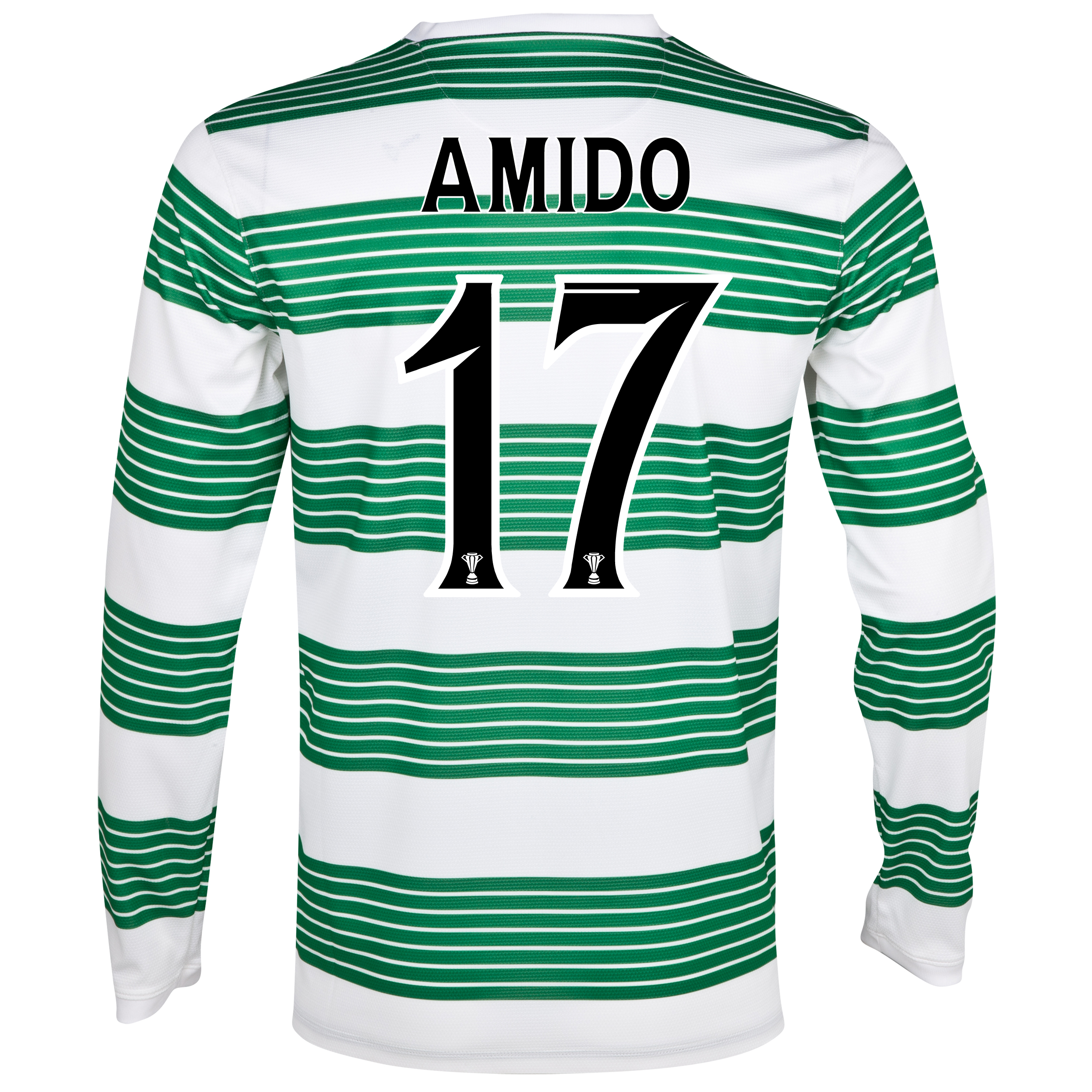 Celtic Home Shirt 2013/14 - L/S- Unsponsored with Amido 17 printing