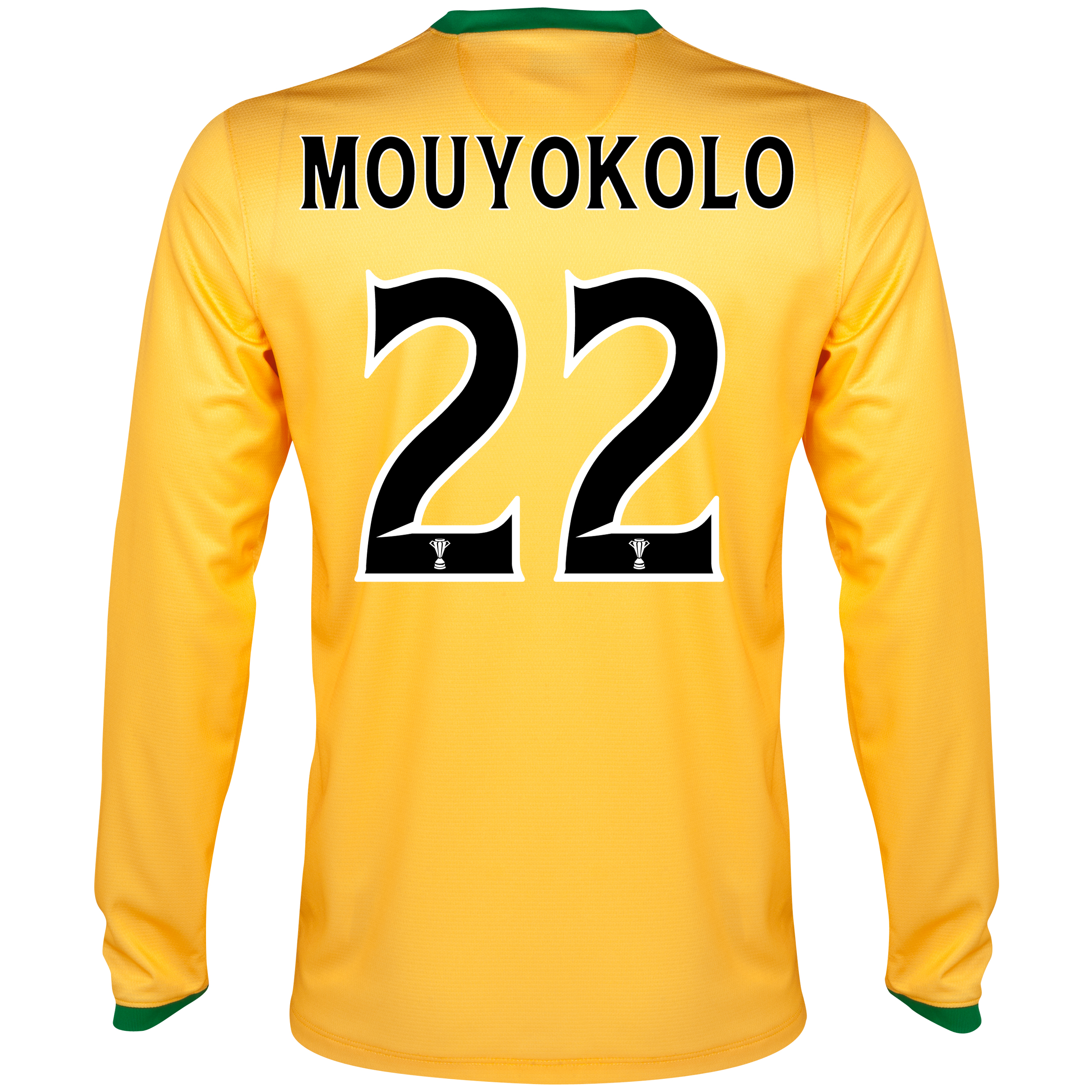 Celtic Away Shirt 2013/14 - L/S- Unsponsored with Mouyokolo 22 printing