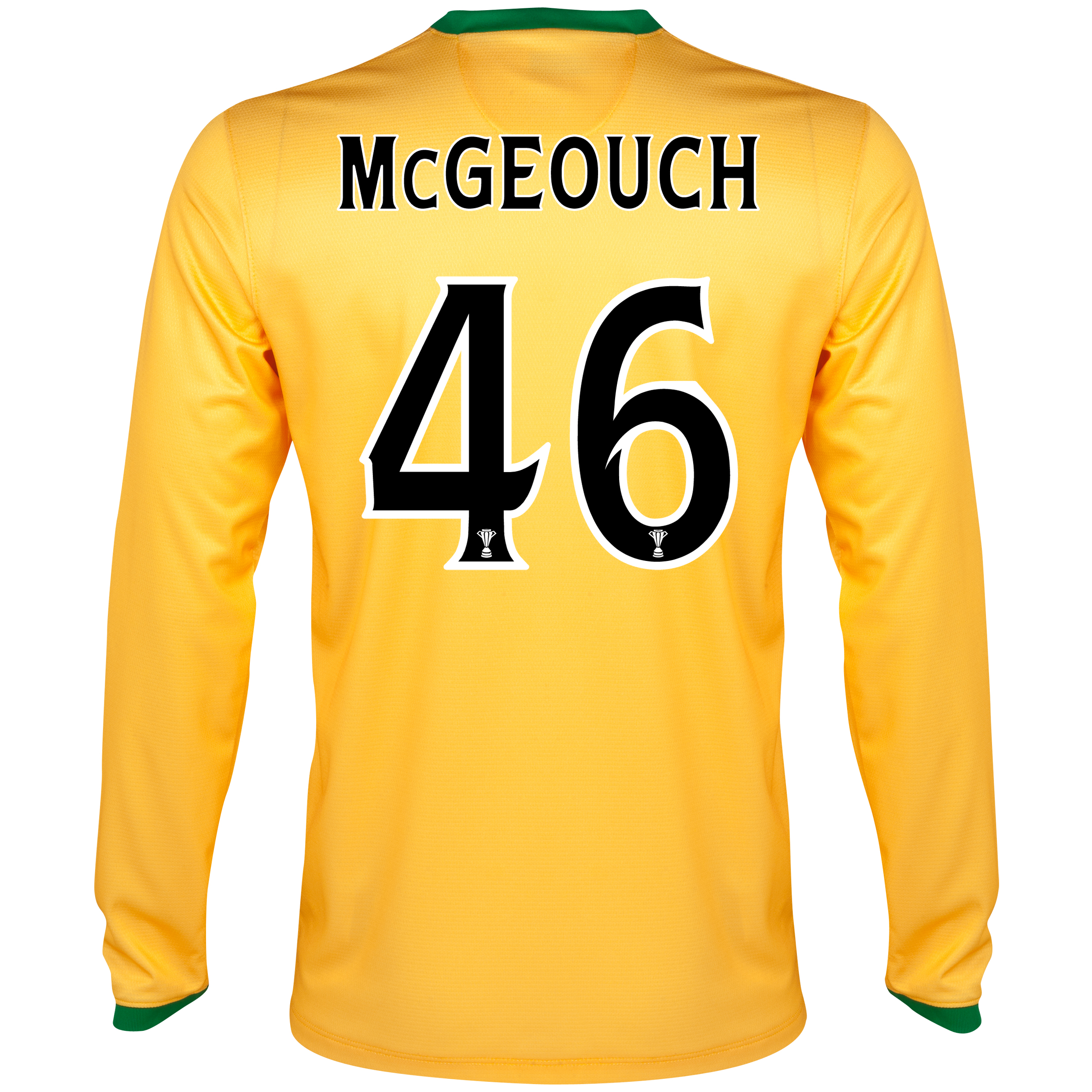 Celtic Away Shirt 2013/14 - L/S- Unsponsored with McGeouch  46 printing