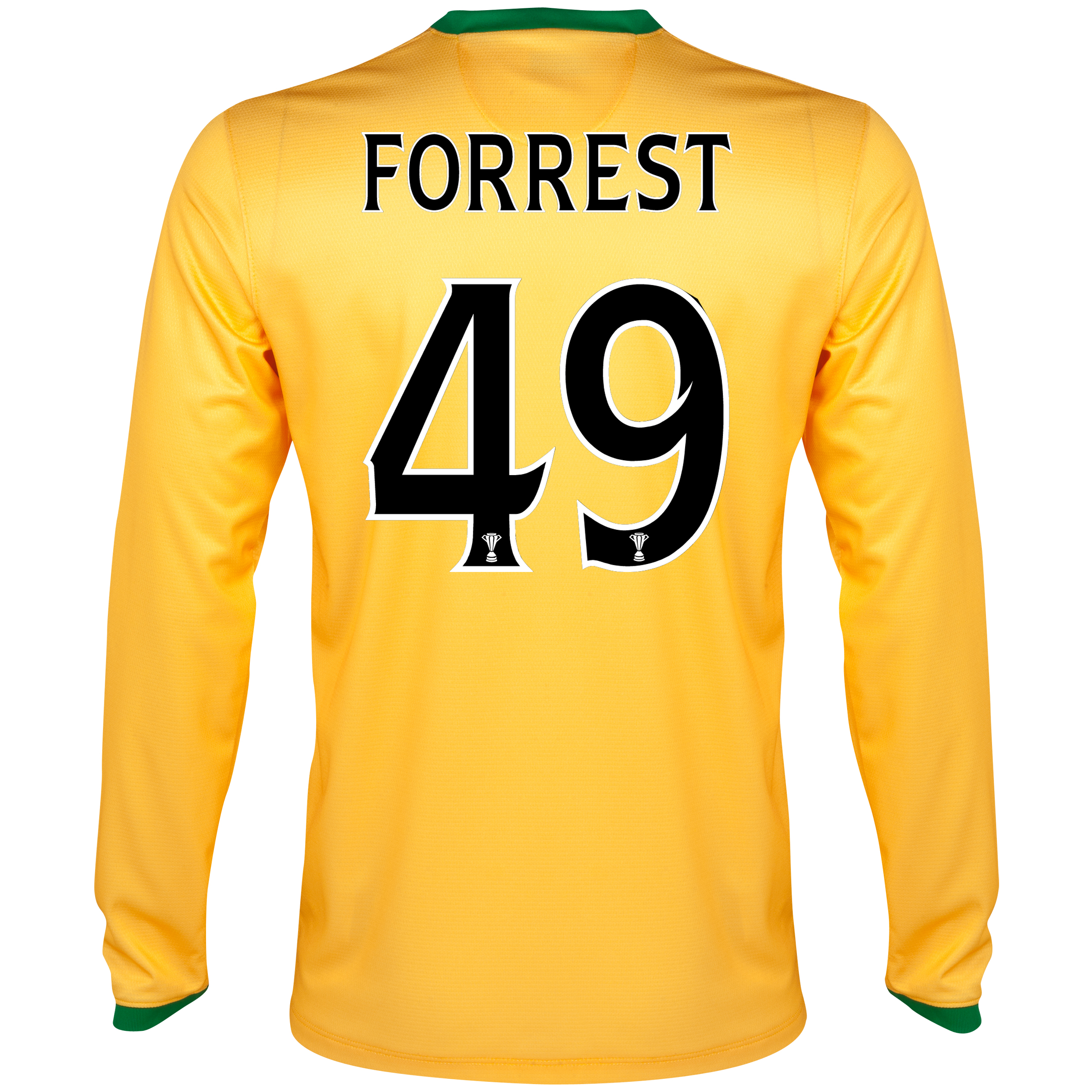 Celtic Away Shirt 2013/14 - L/S- Unsponsored with Forrest 49 printing