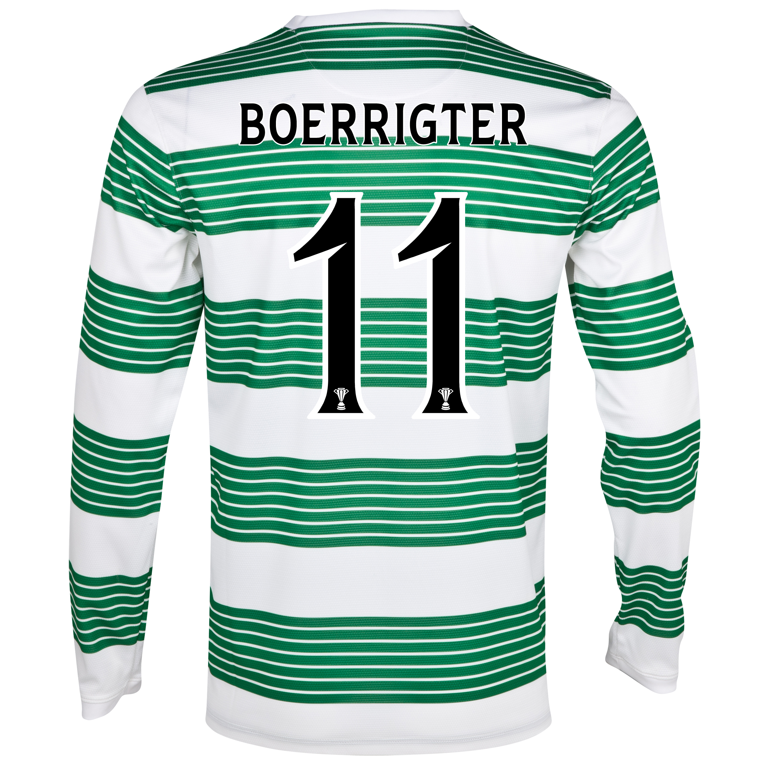 Celtic Home Shirt 2013/15 - L/S- Unsponsored with Boerrigter 11 printing