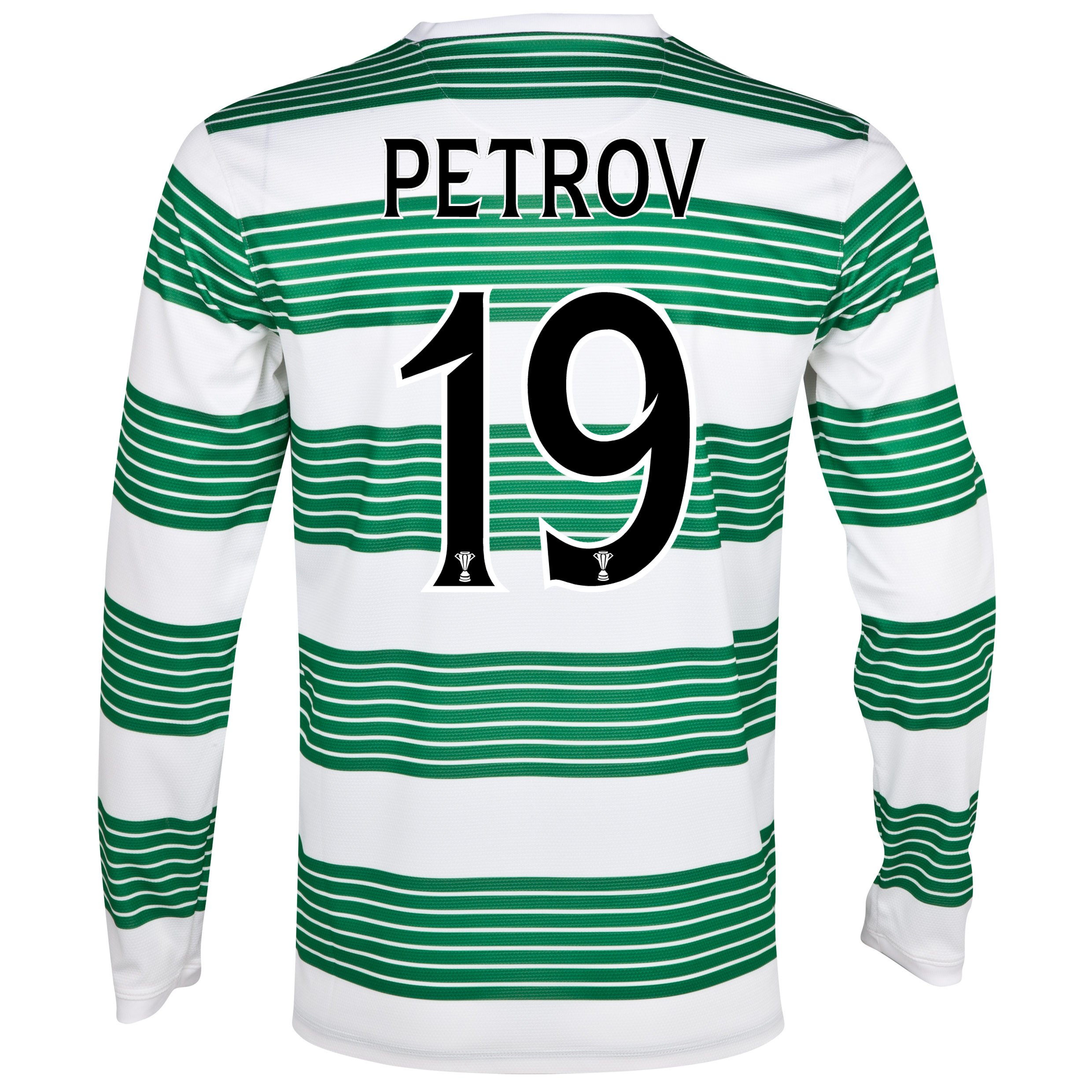 Celtic Home Shirt 2013/15 - L/S- With Sponsor with Petrov 19 printing
