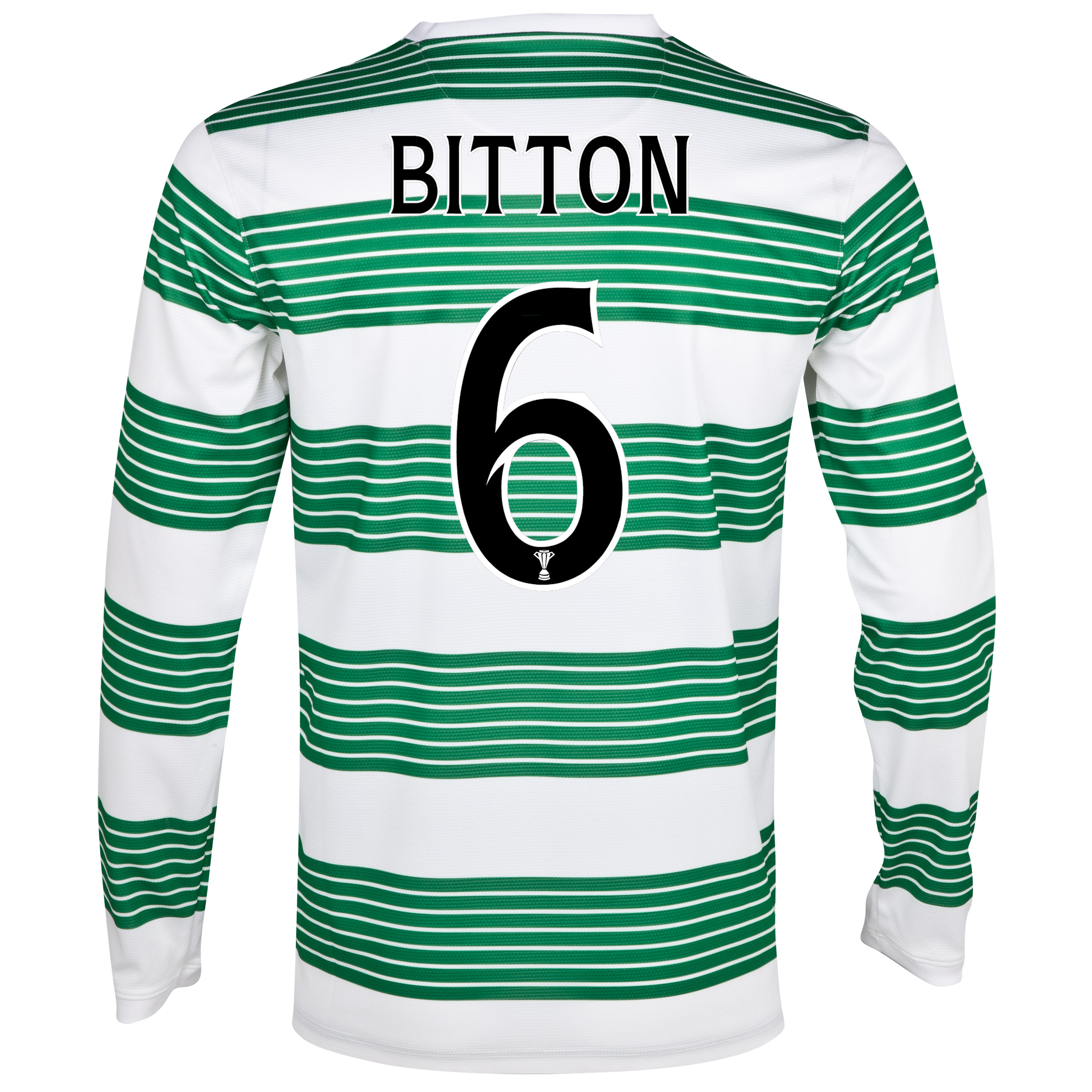 Celtic Home Shirt 2013/15 - L/S- Unsponsored with Biton 6 printing